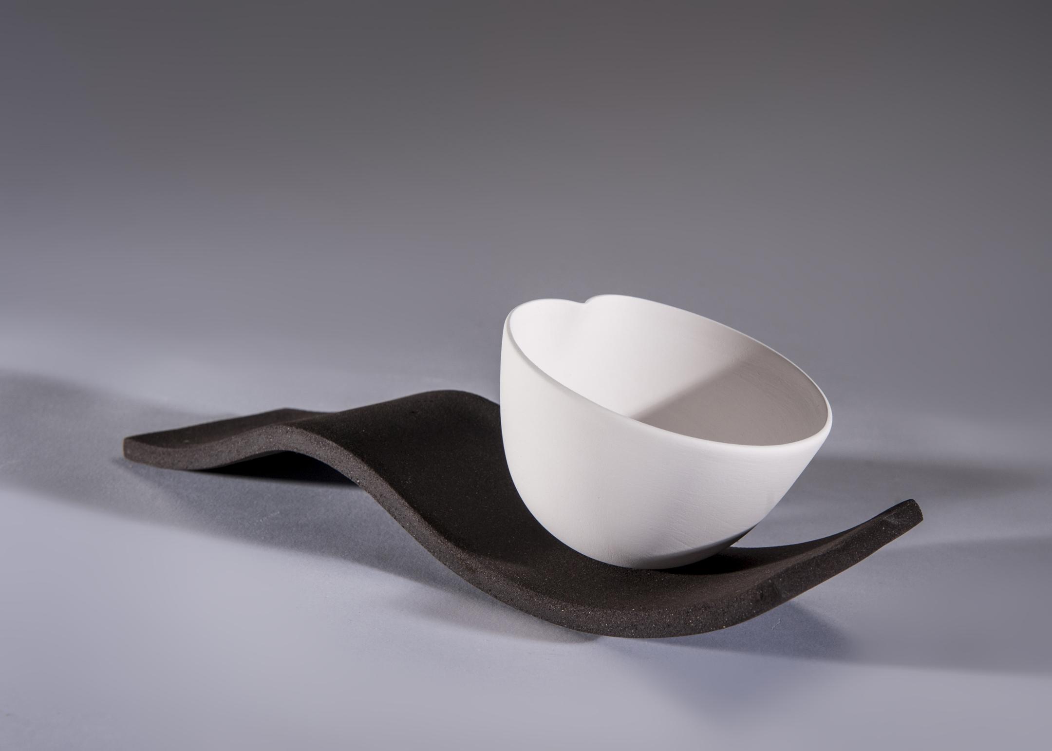 2. Sasha McVey- Little Dip- porcelain and black clay- 31cm x 11cm x 11cm- 2013.jpg