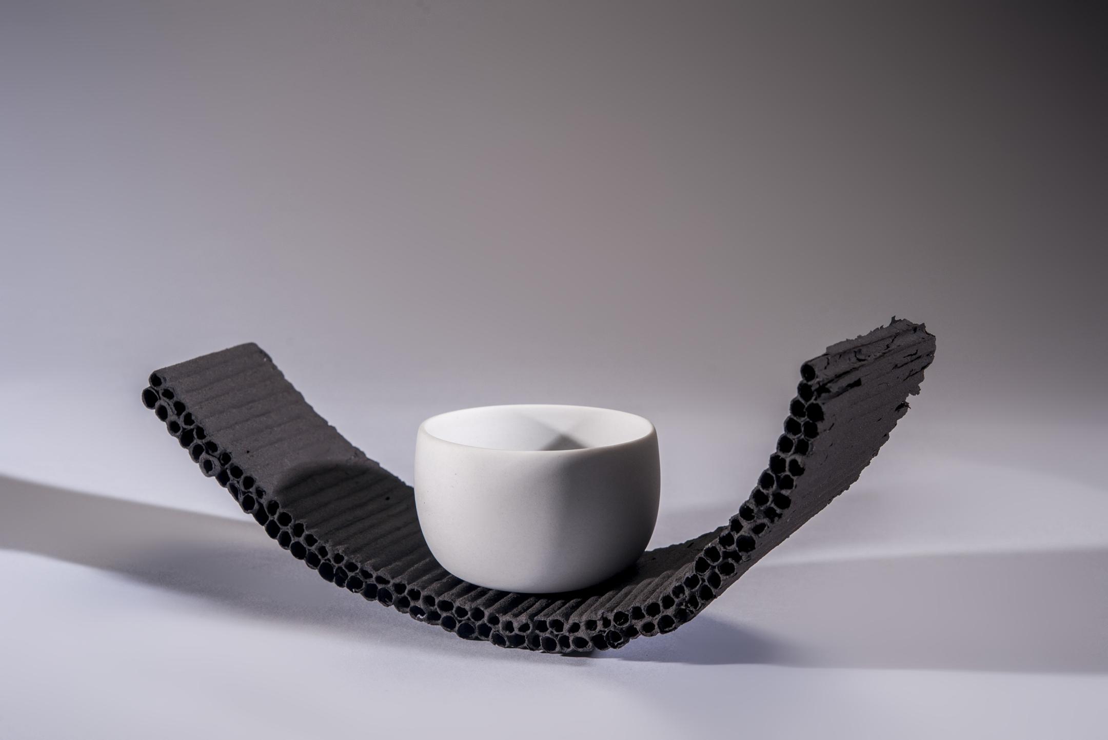 9. Sasha McVey- Coast- porcelain and black clay- 26cm x 9cm x 12cm- 2013.jpg