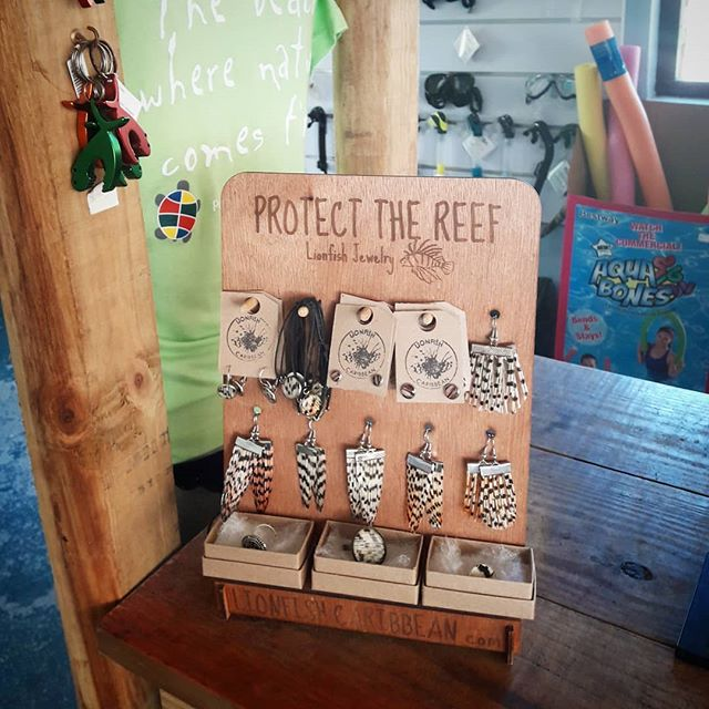 We restocked our retailers on Curacao again!  Stop by for Christmas presents @lokale.conceptstore.curacao @outoftheblueshopping @monartcuracao @portomari_sports @scubacao @thediveshopcuracao @sitbackrelaxenjoystore . . . . . . #lionfish #lionfishjewelry #jewelry #lionfisjewellery #pezleon #pez #koraalduivel #vis  #lionfishhunt #lookawesome #christmaspresents #souvenir #nature #shop #fish #naturaljewellery #naturaljewelry #lionfishhunting #spearfishing #girlsthatscuba #curacao #present #coralreef #reef #oceanlover #fashion #green