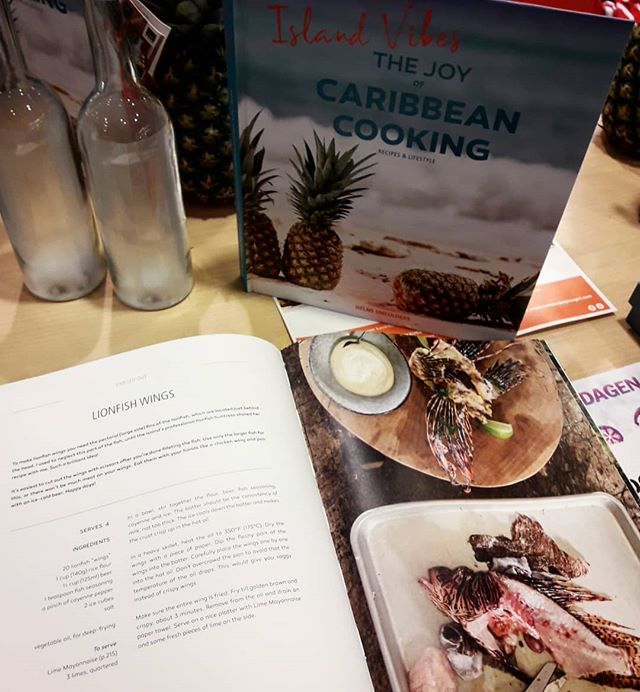 Check out this amazing new book from @caribbeanspicegirl with delicious recepis and awesome photos.  A book full of Island Vibes and joy, that's for sure! ❤ . . . . . #lionfish #lionfishhunting #lionfishhunters #lionfishremoval #protectthereef #reef #eatthemtobeatthem #invasivespecies #recepis #cookingbook #islandvibes #caribbean #cooking #delicious #food #caribbeanspicegirl #vis #koraalduivel #recepten #curacao #pezleon #beachstyle #islandlife