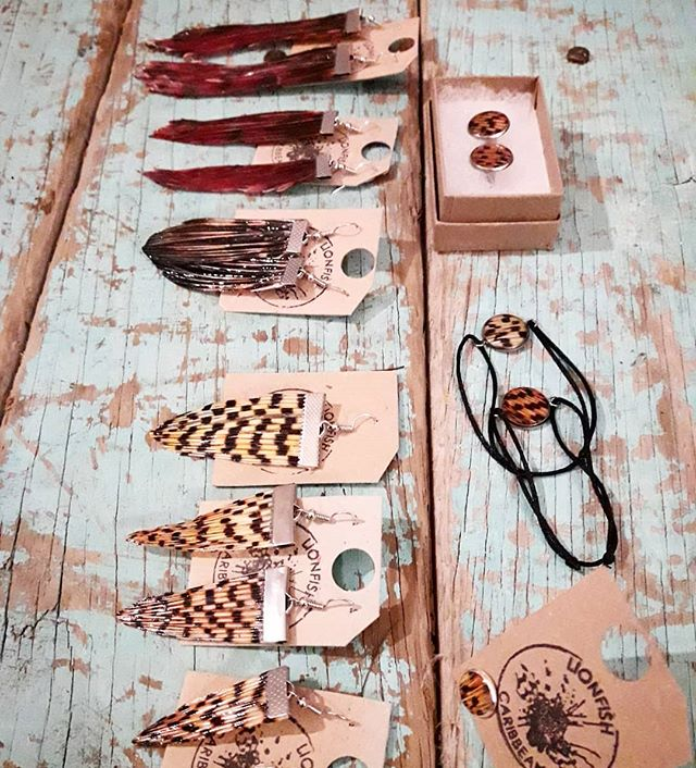 Visiting Curacao? Learn hunting with us and we  make jewelry of your own shot fish! 🤙🏼 . . . . . #lionfish #lionfishjewelry #jewelry #lionfisjewellery #pezleon #beachstyle #lionfishhunt #lionfishhunting #spearfishing #girlsthatscuba #lionfishhunters #bohemianstyle #koraalduivel #vis #protectthereef #reef #oceanlover
