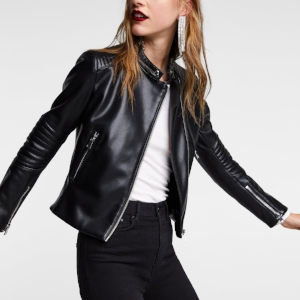 ZARA-BLACK-LEATHER-BIKER-JACKET