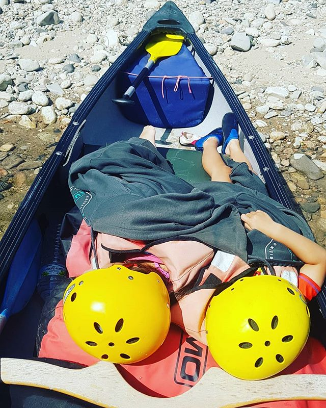 Sometimes it's doesn't matter where you  are if you just need a nap..... #SleepingChildrenOnTheRiver #Cousins #Ardeche #Canoeingholiday #Kayakingholiday #T_O_E #DreamTeam