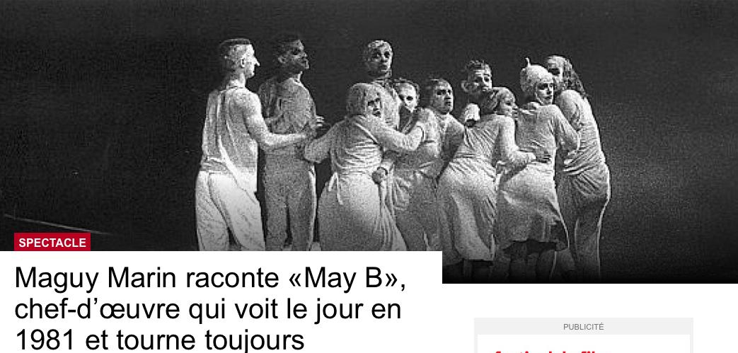 """Maguy Marin & Daniel Ambash, création de """"May B"""", 2001"""