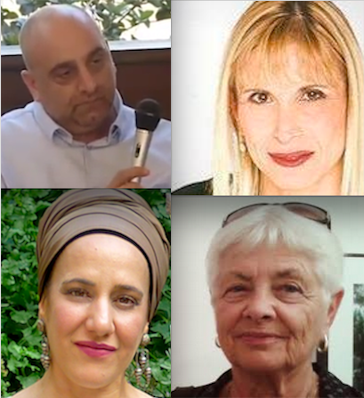 From right to left:Journalist Yael Dan, Lawyer Yossi Nakar, Professor Esther Herzog, Aderet Ambash