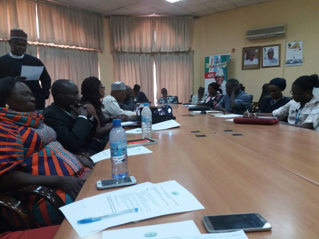 Caption: December 2017. EiEWG members, including NGOs, Government representatives and major donors such as DFID and USAID attend the first working group of the Street Child-funded Nigeria 'EiE' Curricula project