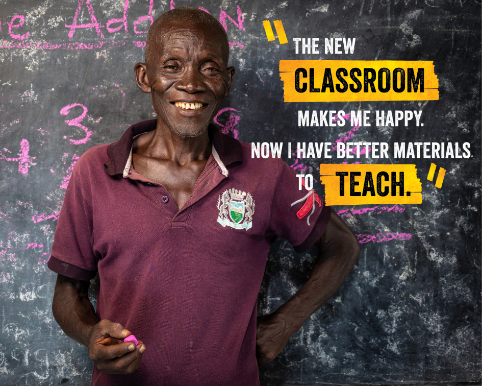 Sulaiman, 69 years old, beneficiary of Street Child's 'Right to Learn' 2017 UK Aid Match appeal.