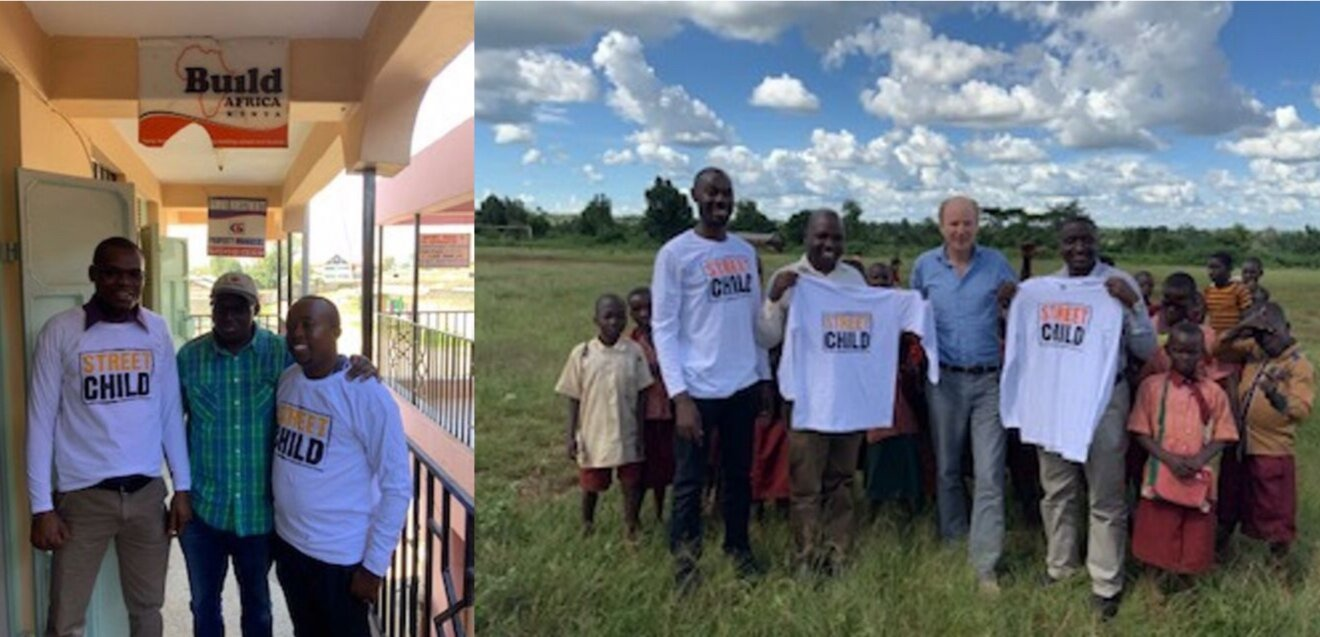 Tom Dannatt, Street Child CEO and Founder, welcoming Build Africa Kenya (left) and Build Africa Uganda (right) leadership teams into Street Child!