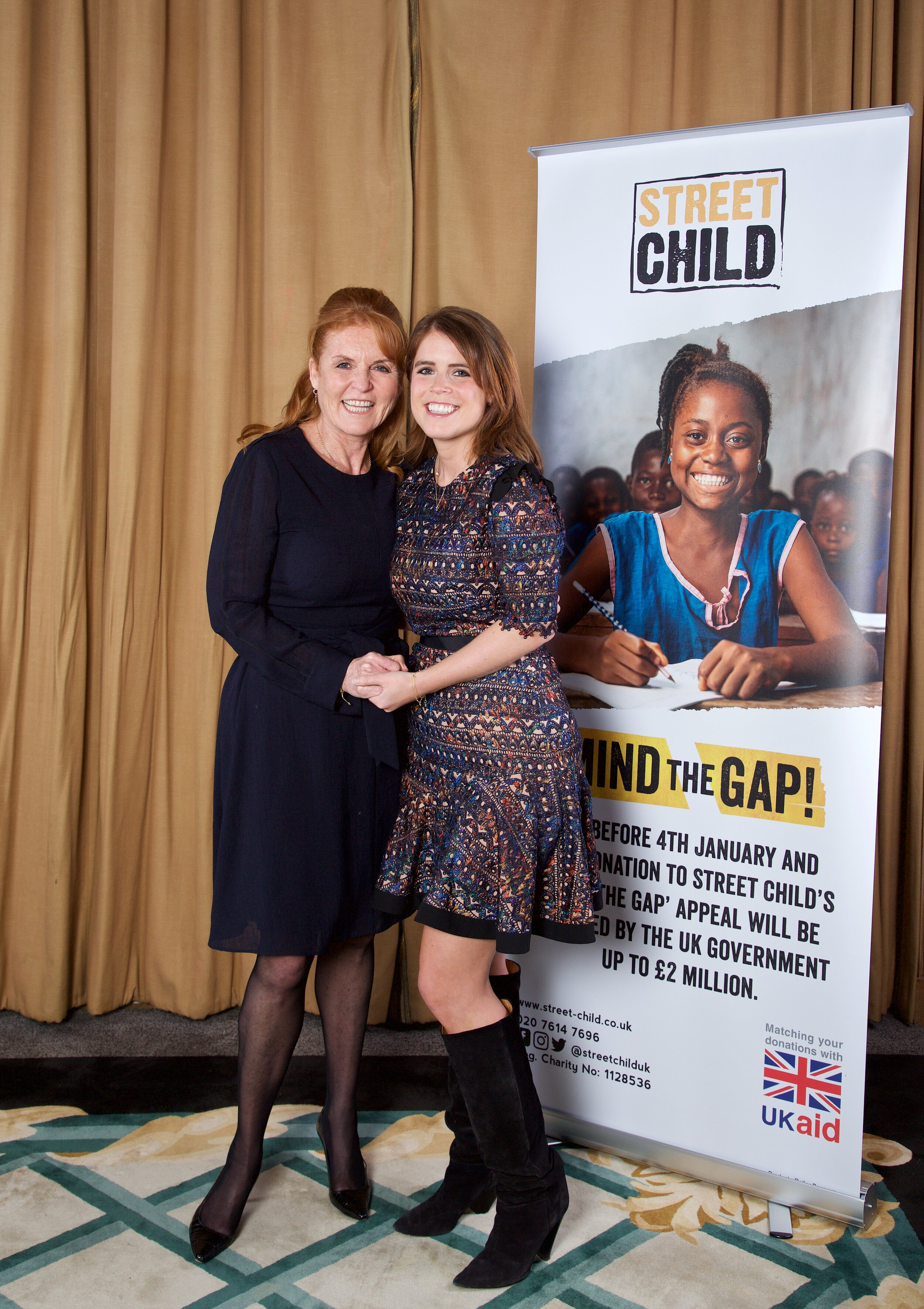 Street Child Founder Patron, Sarah, Duchess of York attended the event with her youngest daughter, HRH Princess Eugenie, and chaired the panel discussion.