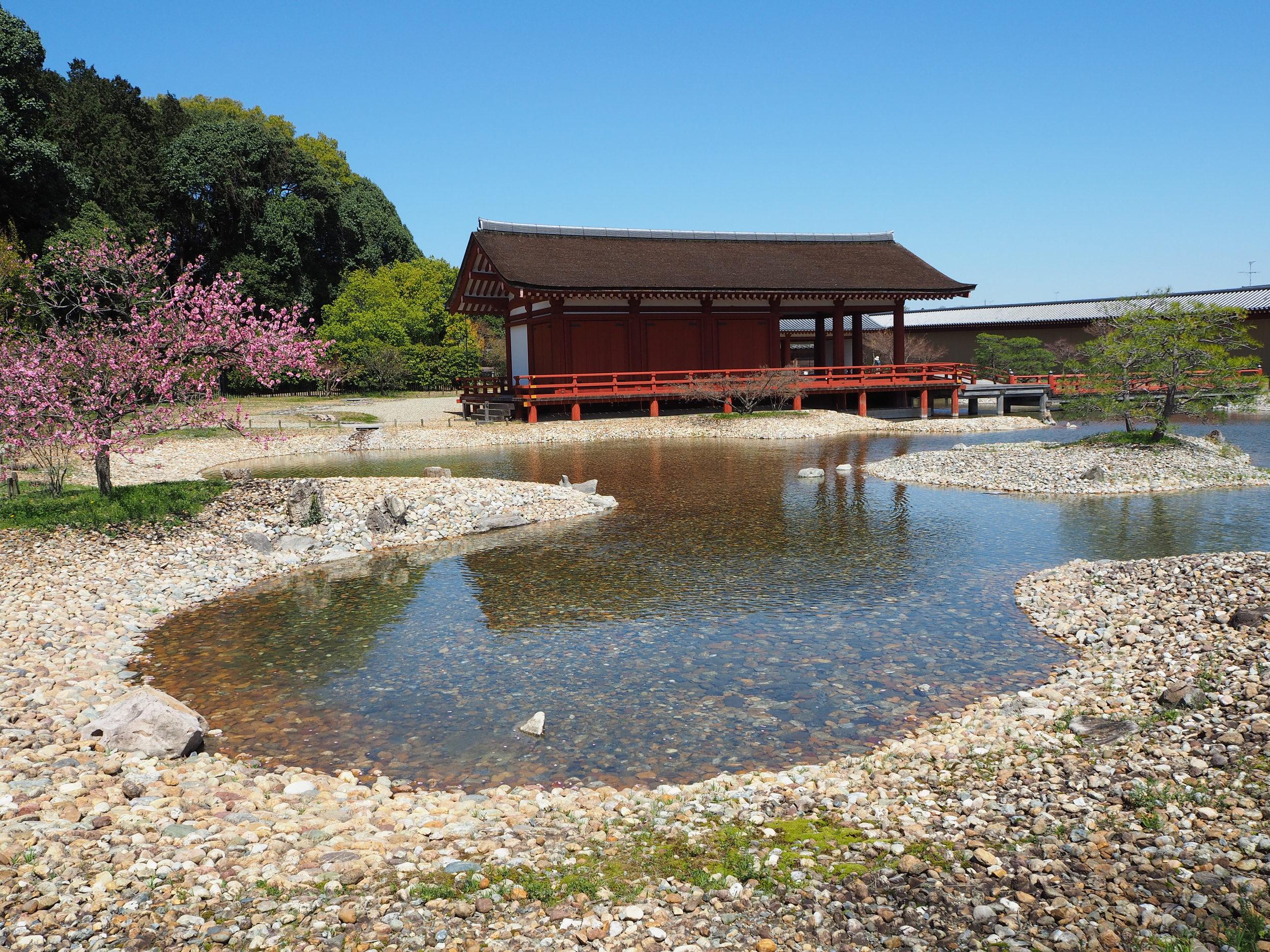 The ancient garden of Heijokyo at Nara, made in 564AD