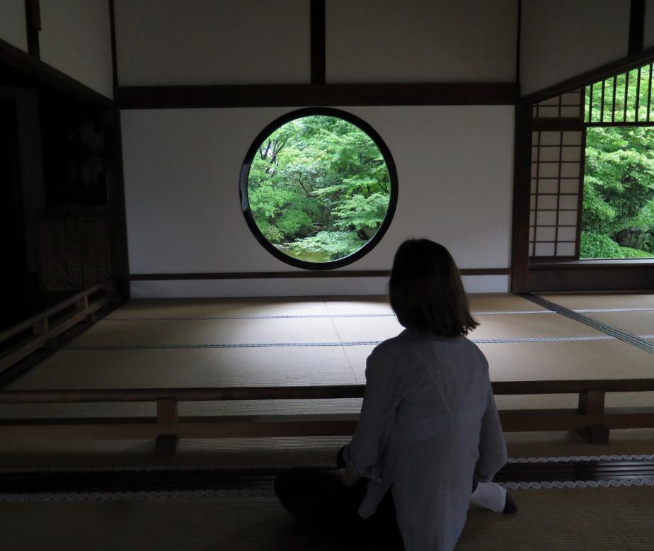 "Sophie Walker at ""The Window of Enlightenment"", Genko-an , Kyoto"