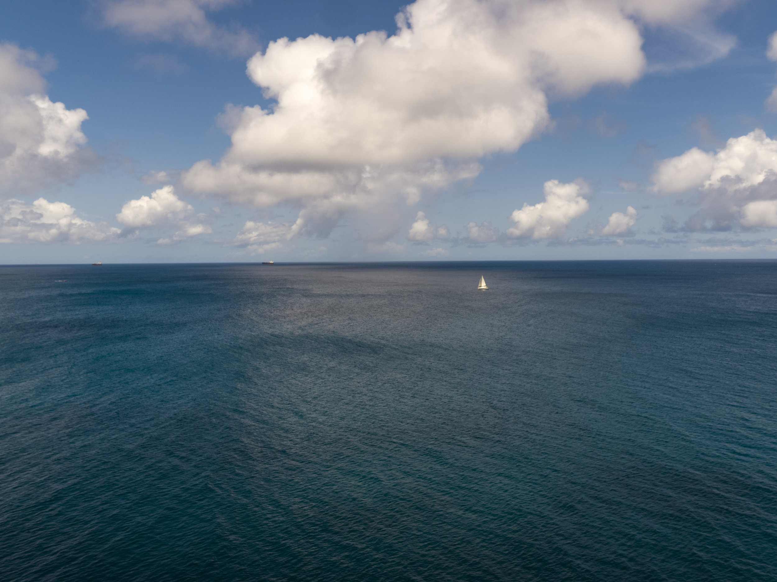 St Lucia Ocean Sailboat
