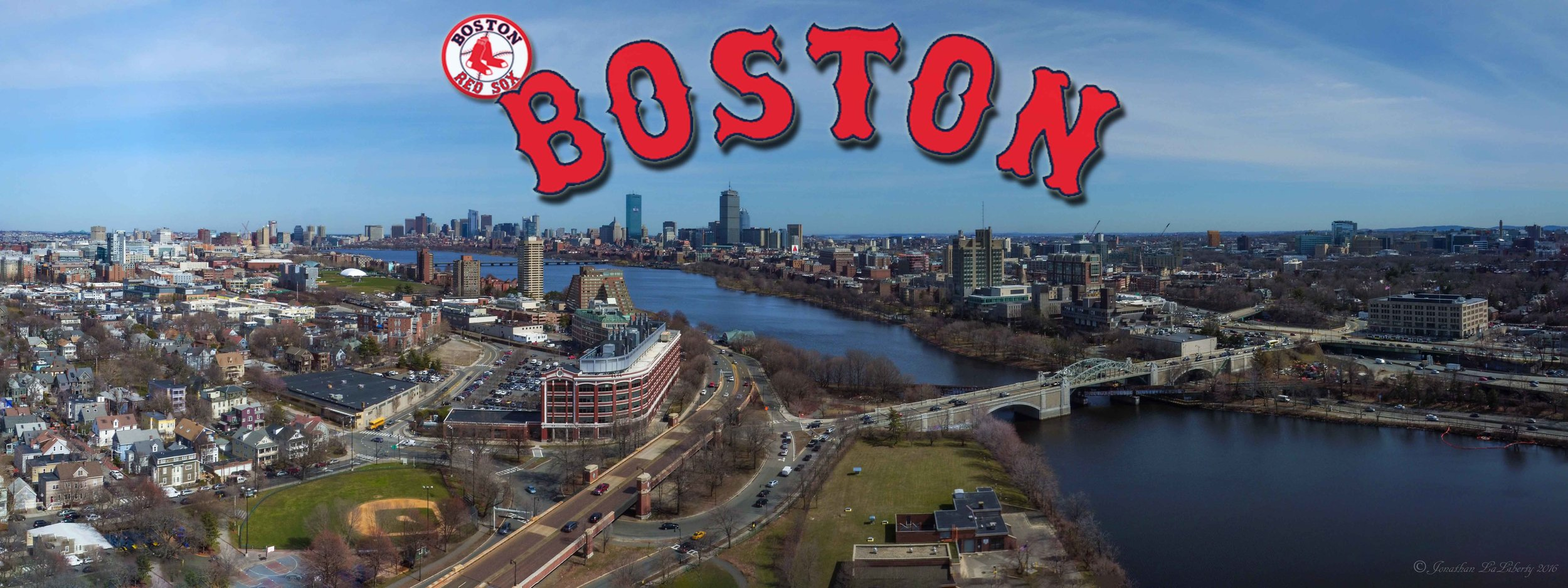 Boston Redsox Panorama Drone Photogrpahy