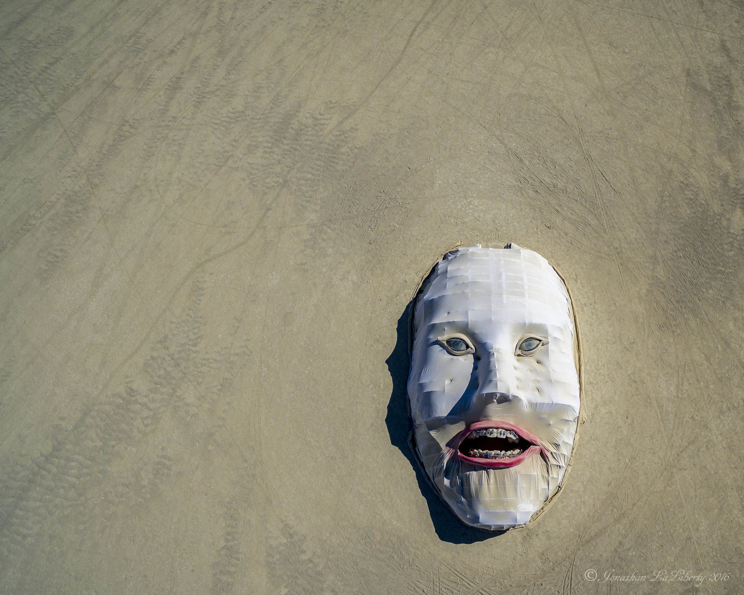 Burning Man Art Drone Photography Abstract