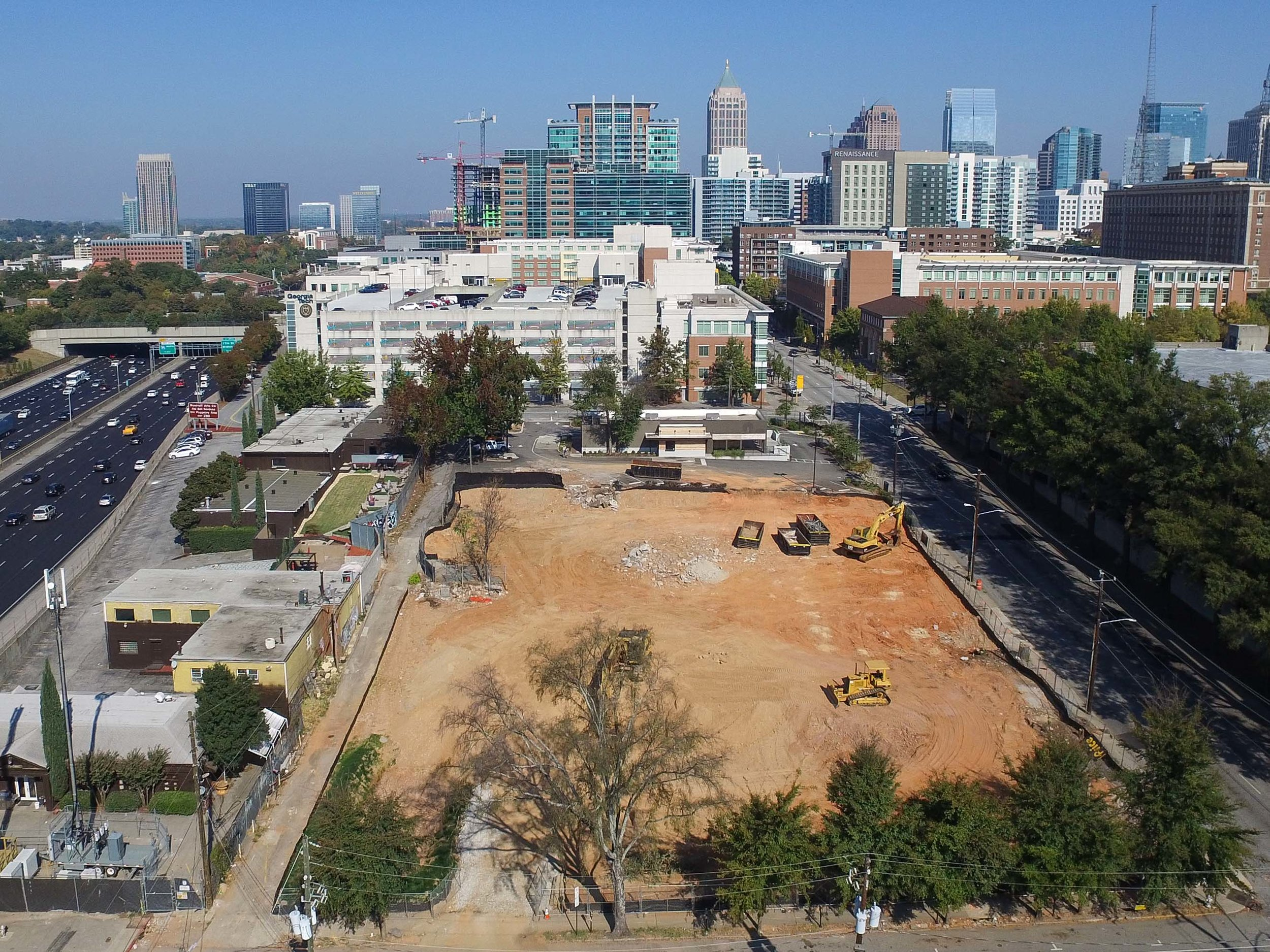 Atlanta Construction Progress Photography Drone