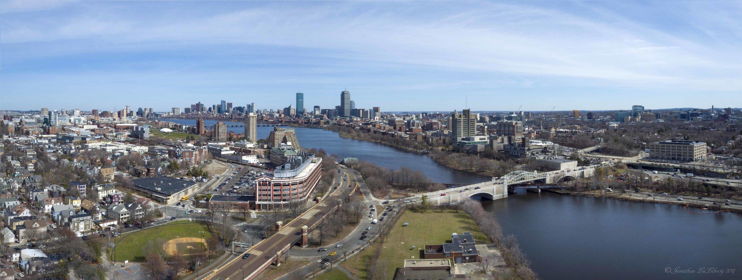 Boston Panorama Drone Photography Architecture