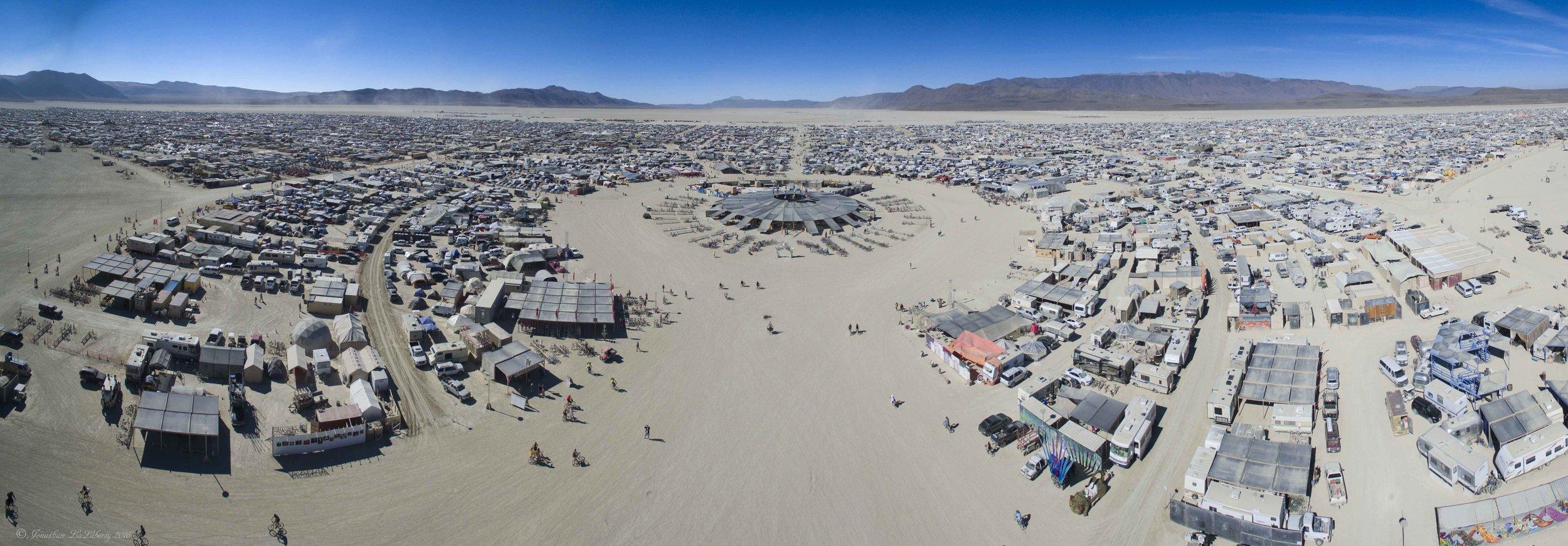Burning Man Panorama Drone Photography 2016 Black Rock City