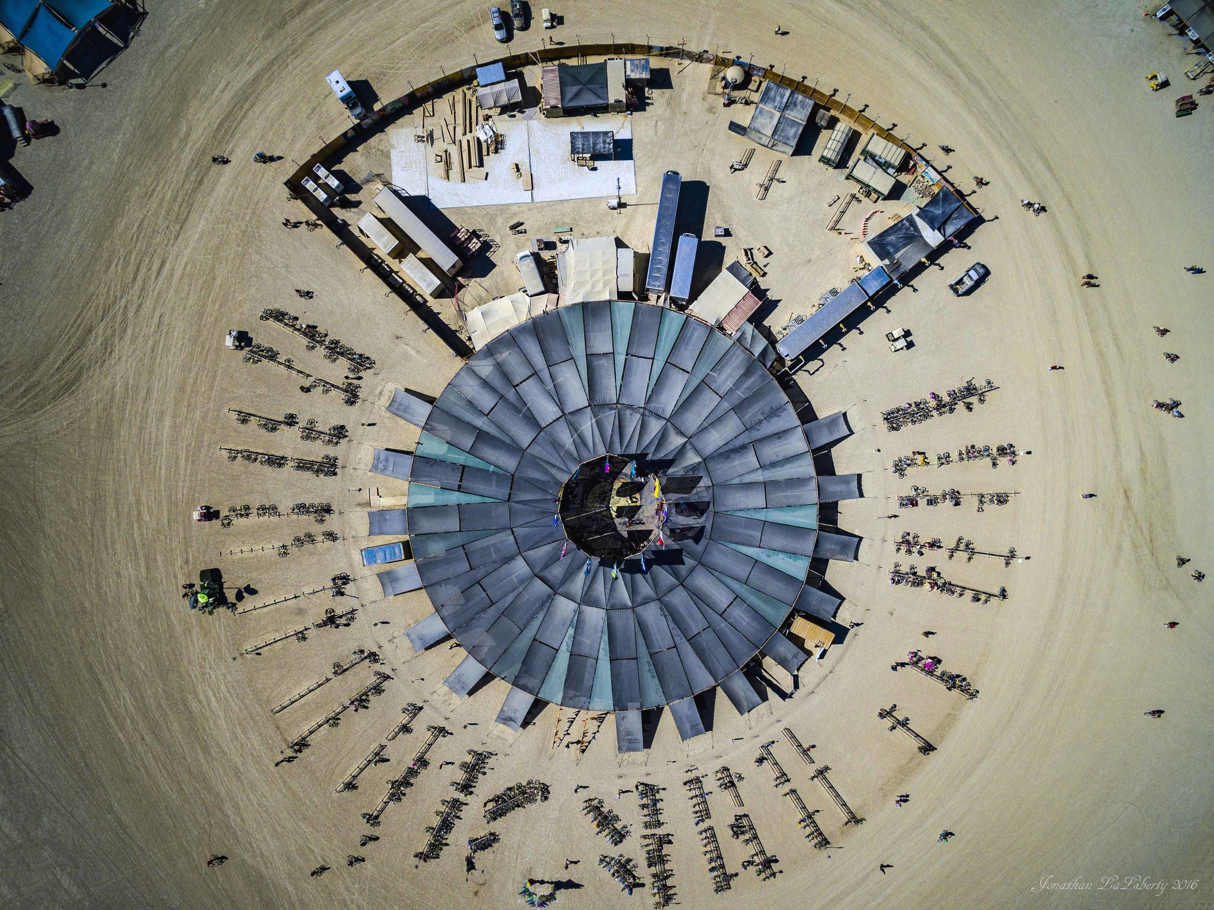 Burning Man 2016 Center Camp Drone Photography
