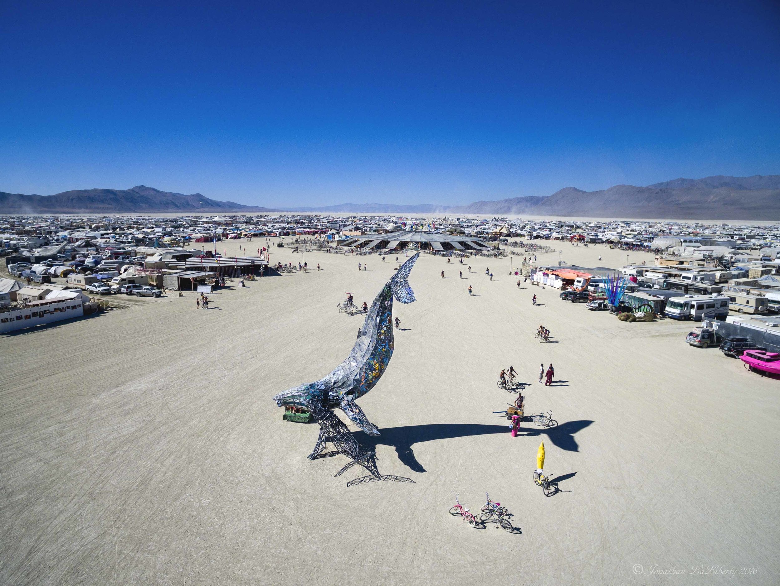 Burning Man 2016 Space Whale Drone Photography