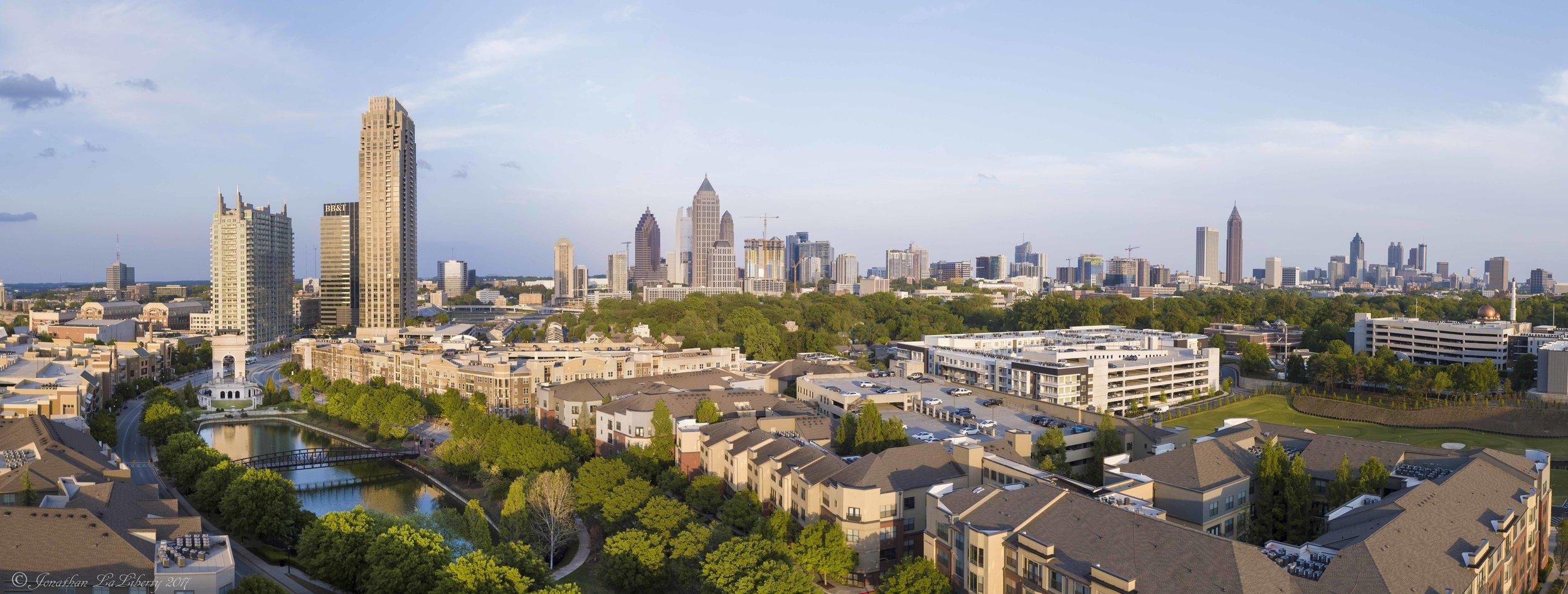 Atlantic Station Atlanta Drone Photography Panorama