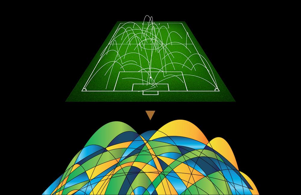 Bespoke pattern based on trajectory lines