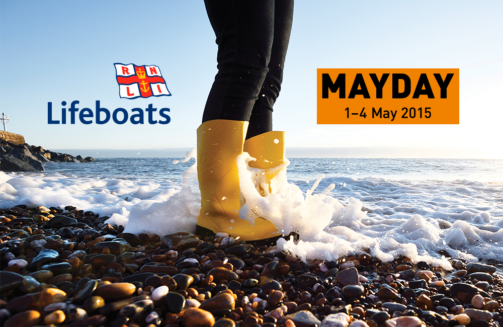 The yellow welly (worn by RNLI crew members) became the visual glue and icon throughout the campaign.