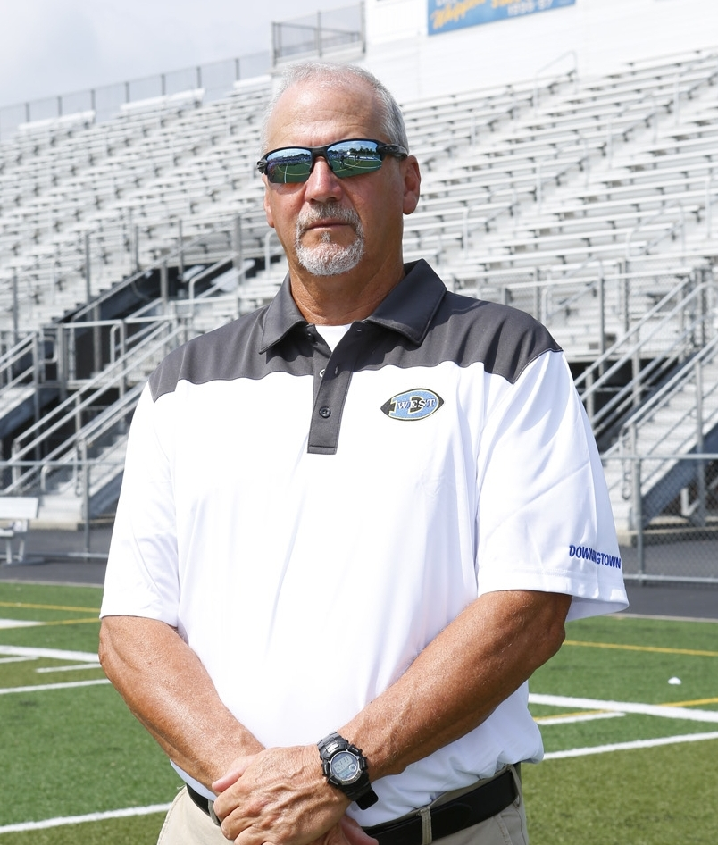 MICHAEL MILANO    Head Coach   Career Record: 150 - 104 - 1  Education: B.S. Health and Physical Education, West Chester University, 1991. MSA in Athletic Administration West Chester University, 1996  Experience: Downingtown West High School 2003-present (2008, 2009 & 2013 Ches-Mont Champions); Big 33 2008; PSFCA-East PA Head Coach 2010; Penncrest High School 8 yrs Head Coach; Unionville High School 2 yrs Head Coach (PIAA-AAA District 1 Champs 1994); Garnet Valley High School 2 yrs; Downingtown High School 2 yrs; Coatesville High School 2 yrs  PA Football Coaches Hall of Fame inductee - 2015  Family: Wife: Dodie Children: Nikki and Dana. Resides in Downingtown.