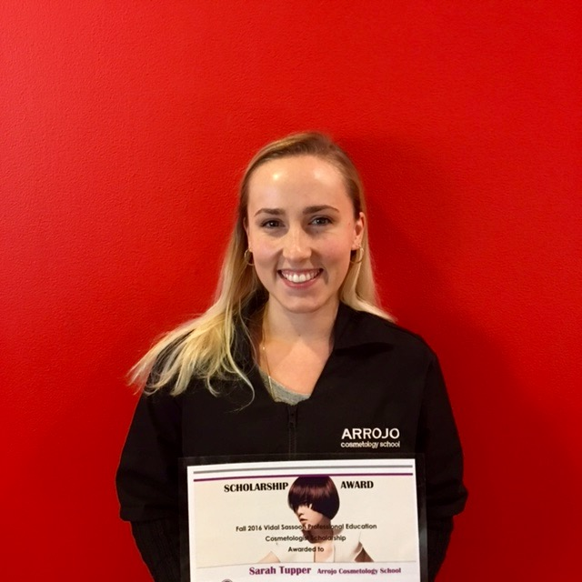 SARAH TUPPER WITH HER BEAUTY CHANGES LIVES AWARD