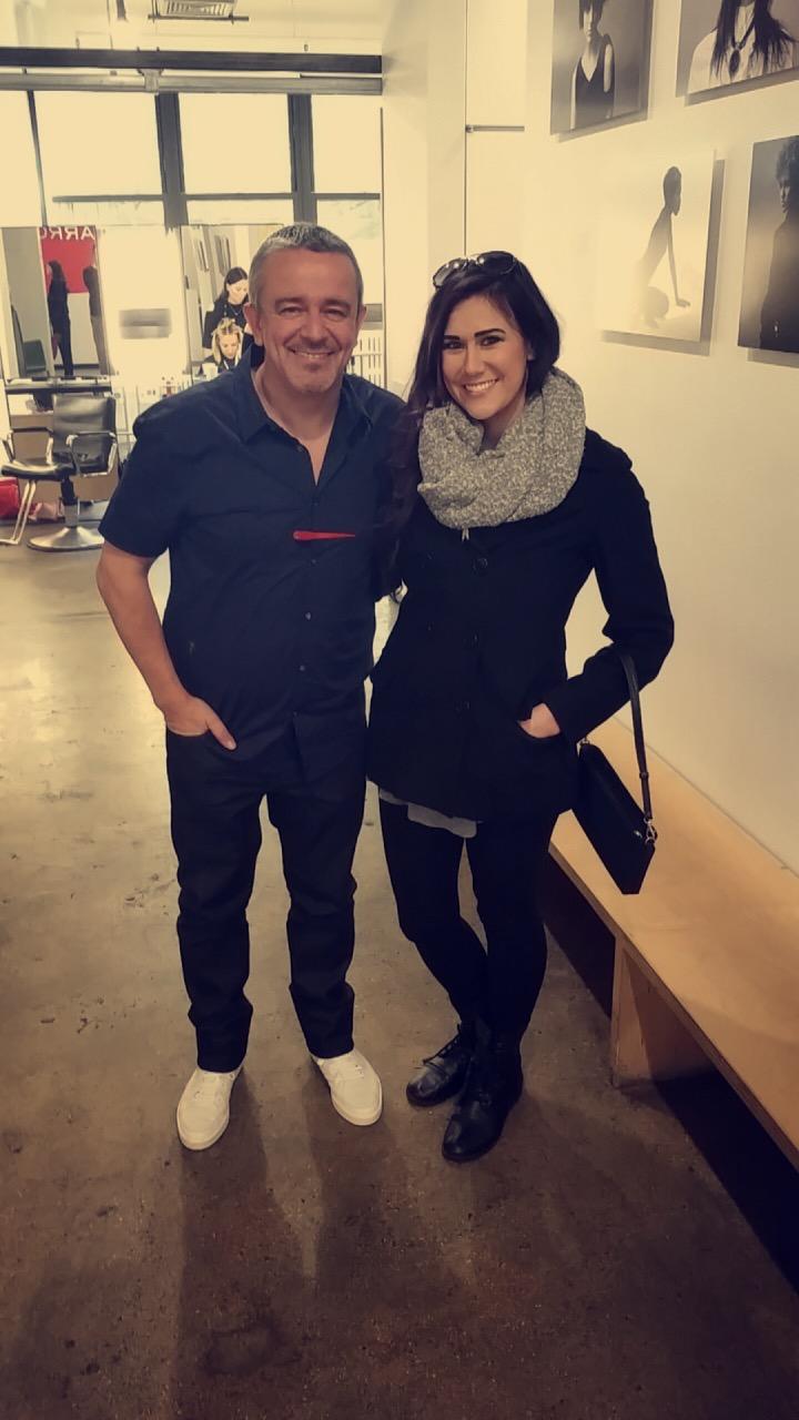 Rachel with owner & founder of ARROJO Cosmetology School, Nick Arrojo