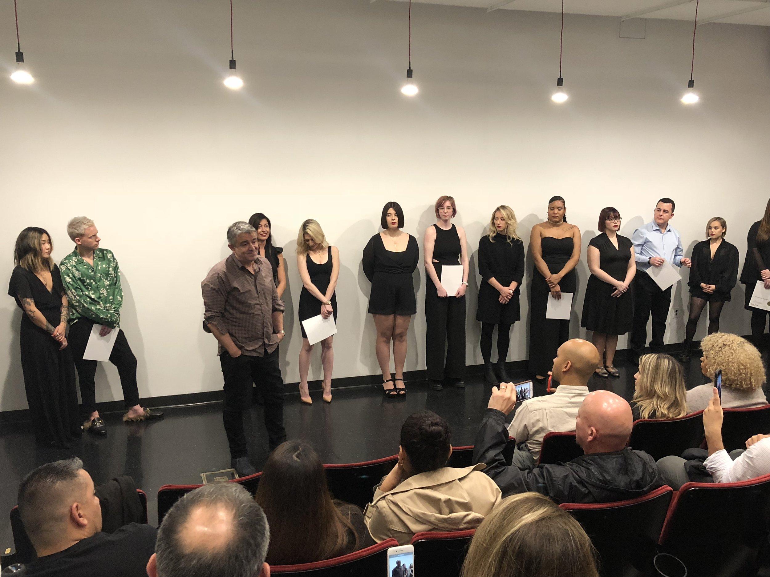 Nick Arrojo congratulates the graduates & gives a send off speech.