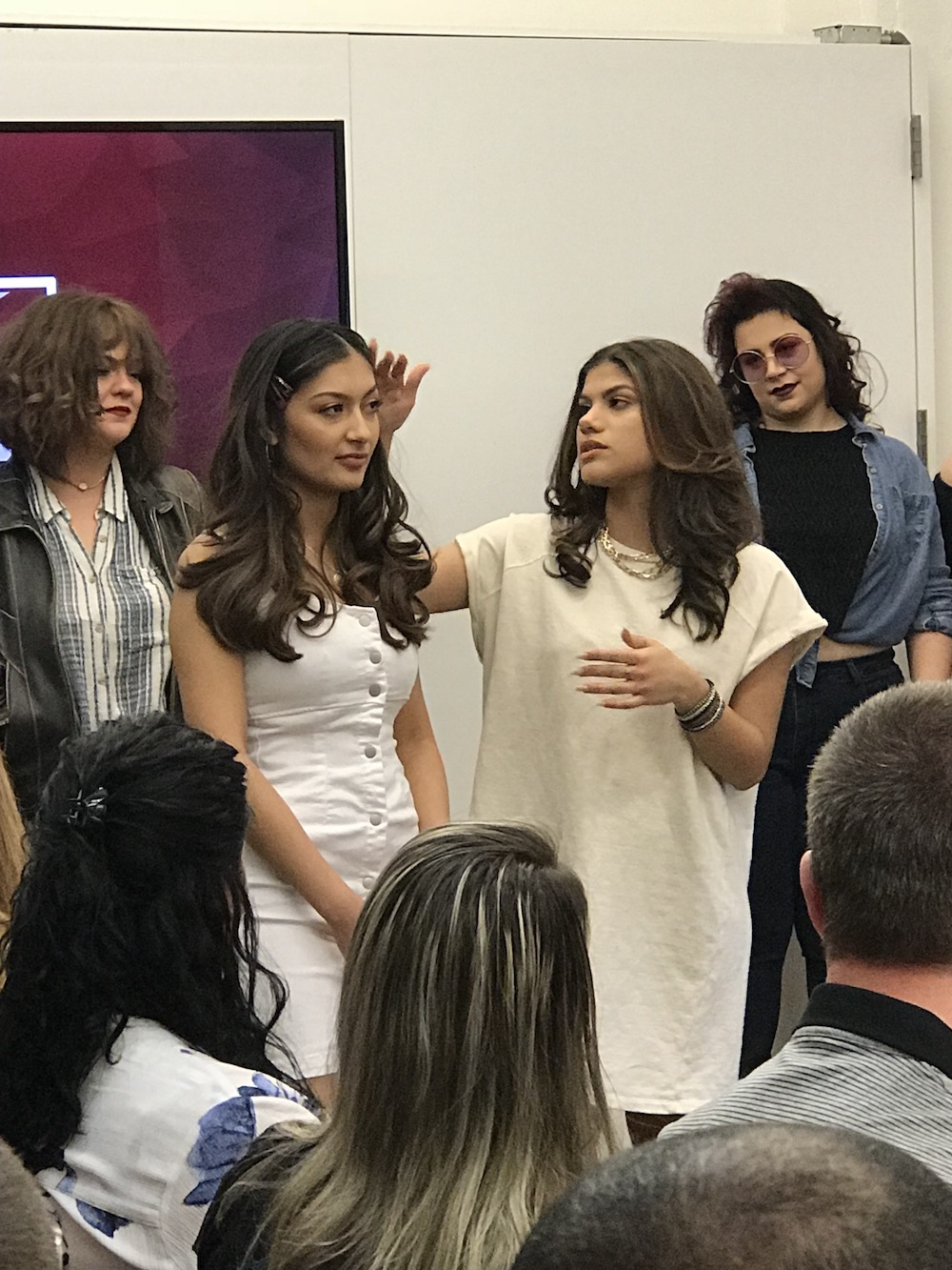 All graduates present their model to the group. It's great practice for life as a stylist!