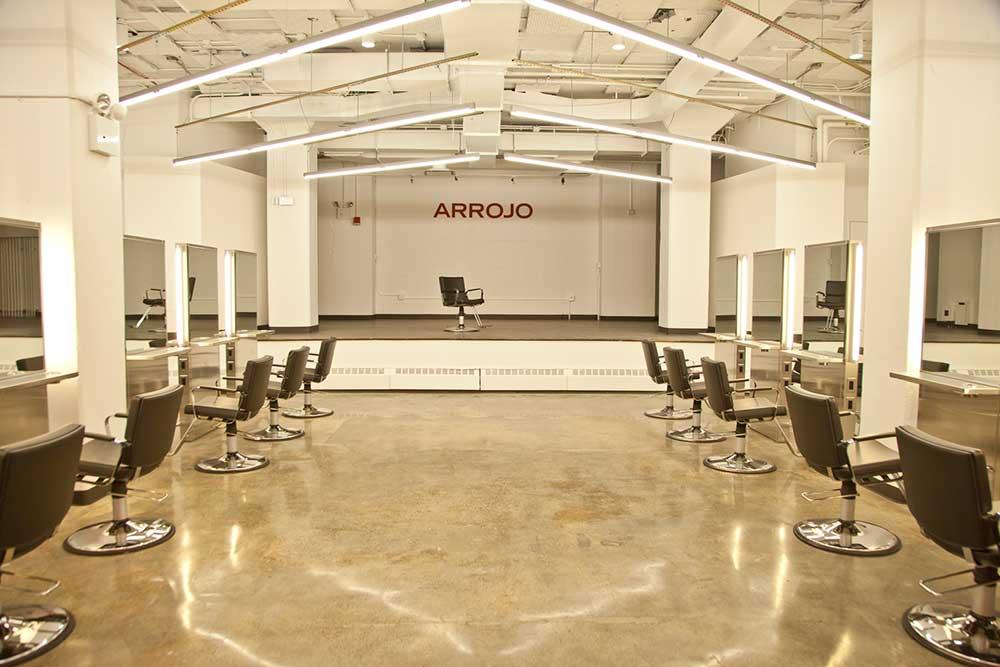 The student salon at ARROJO Tribeca Cosmetology School