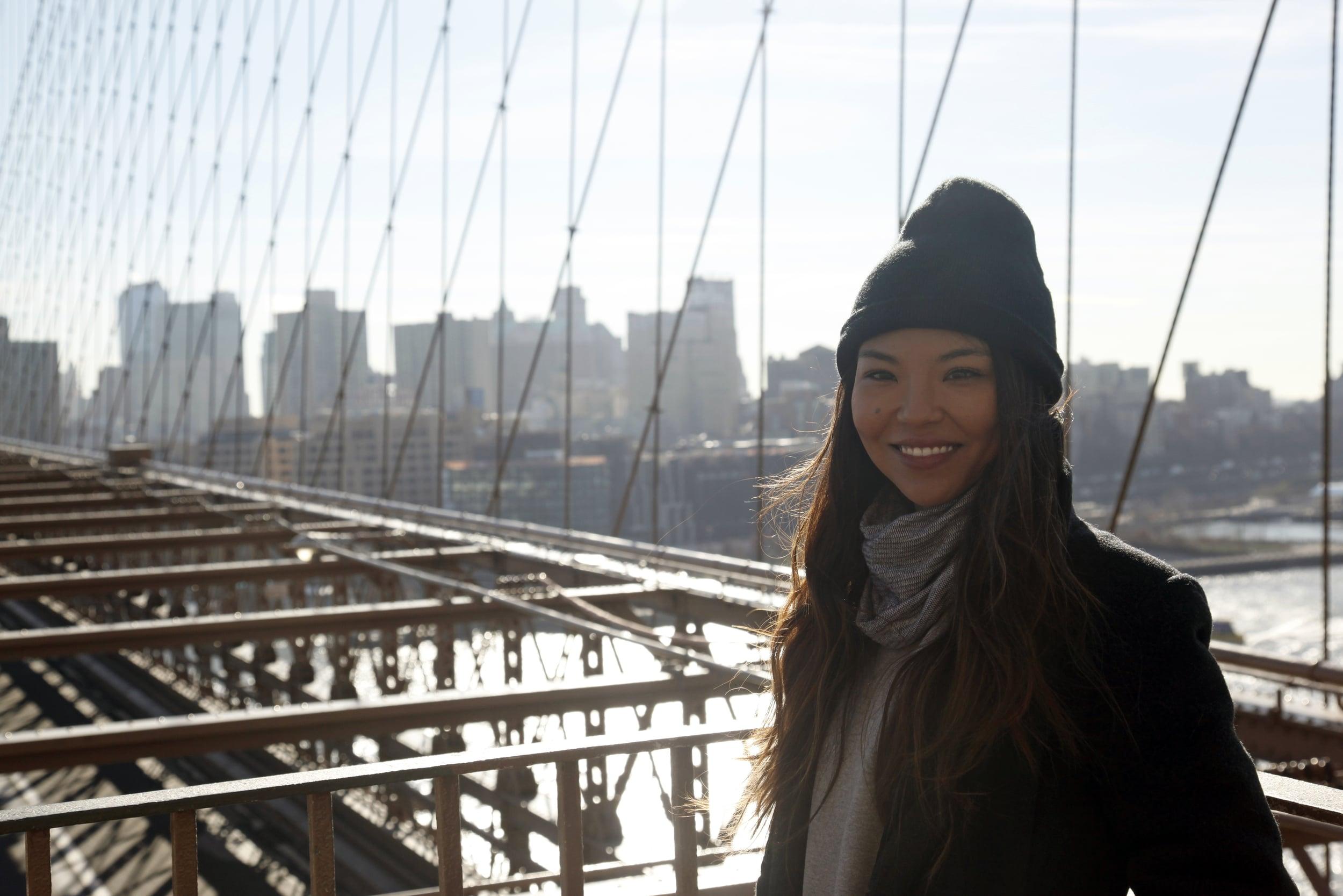 Brooklyn Bridge, New York City, New York, January 2016.