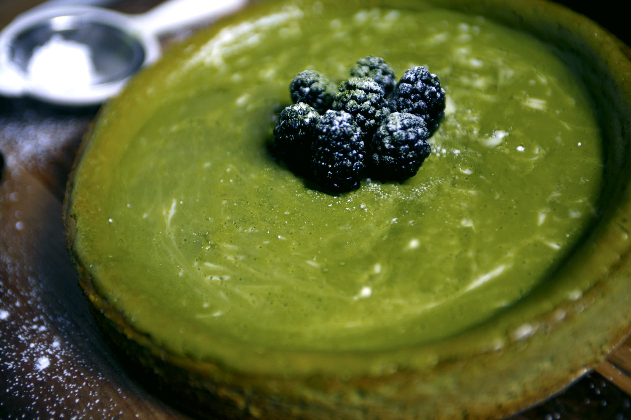 Matcha Swirl Cheesecake. Recipe from  A Cozy Kitchen. All photos by:  © Suzanne Spiegoski