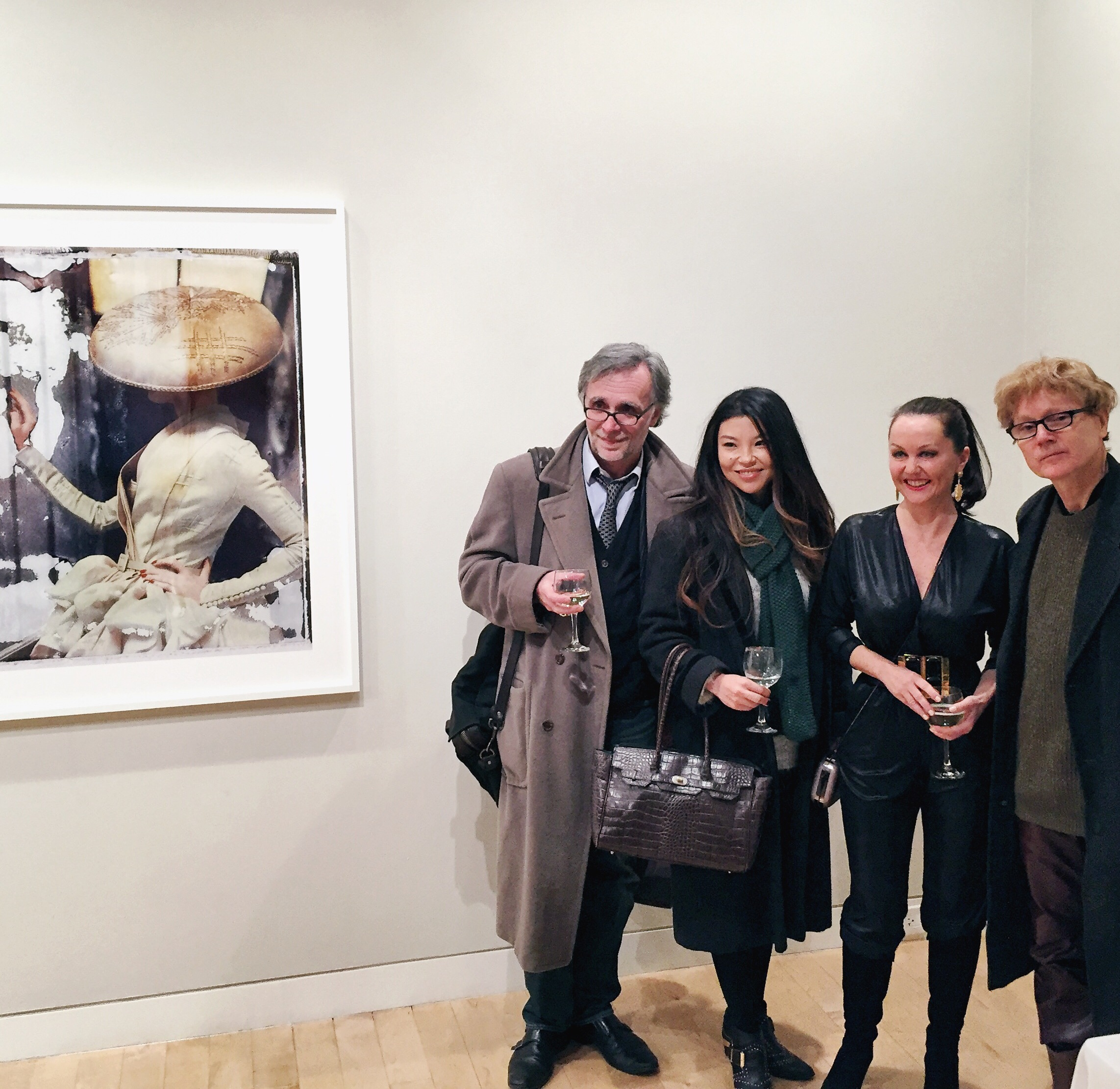 L to R: Gilles Decamps, Suzanne Spiegoski, Cathleen Naundorf, & M. Brendon MacInnis from  in the Art world .