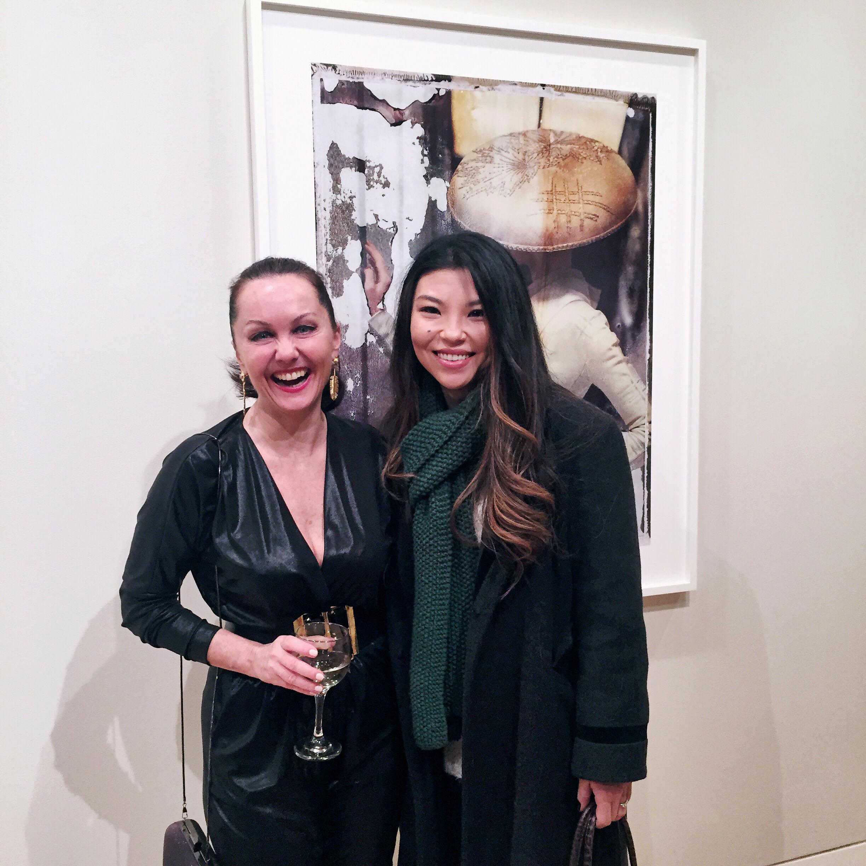 With the amazingly talented fashion photographer, Cathleen Naundorf at Edwynn Houk Gallery, New York City, NY.
