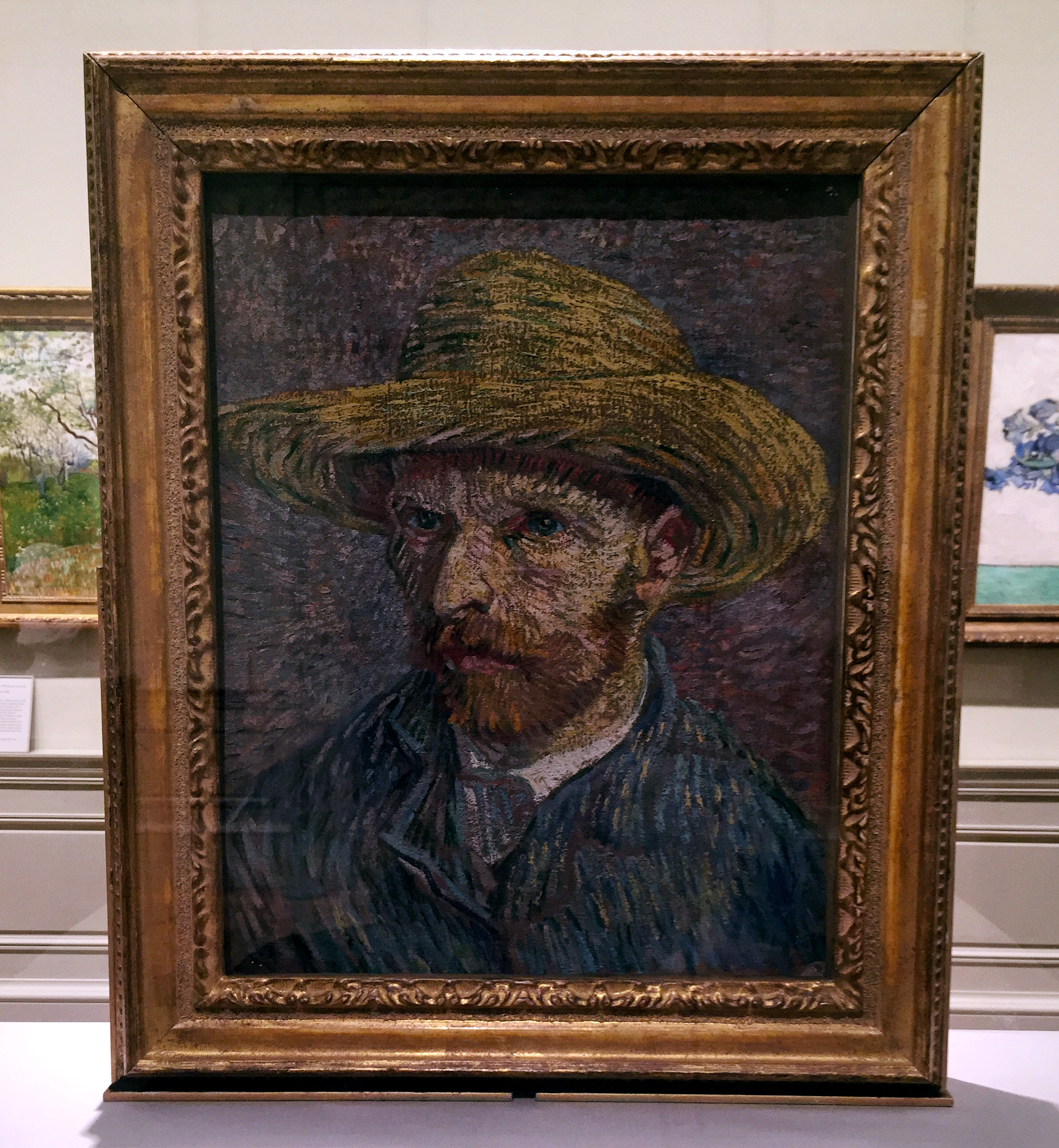 Self-Portrait with a Straw Hat (obverse: The Potato Peeler)   Vincent van Gogh . (Dutch, Zundert 1853–1890 Auvers-sur-Oise) 1887. Oil on canvas.