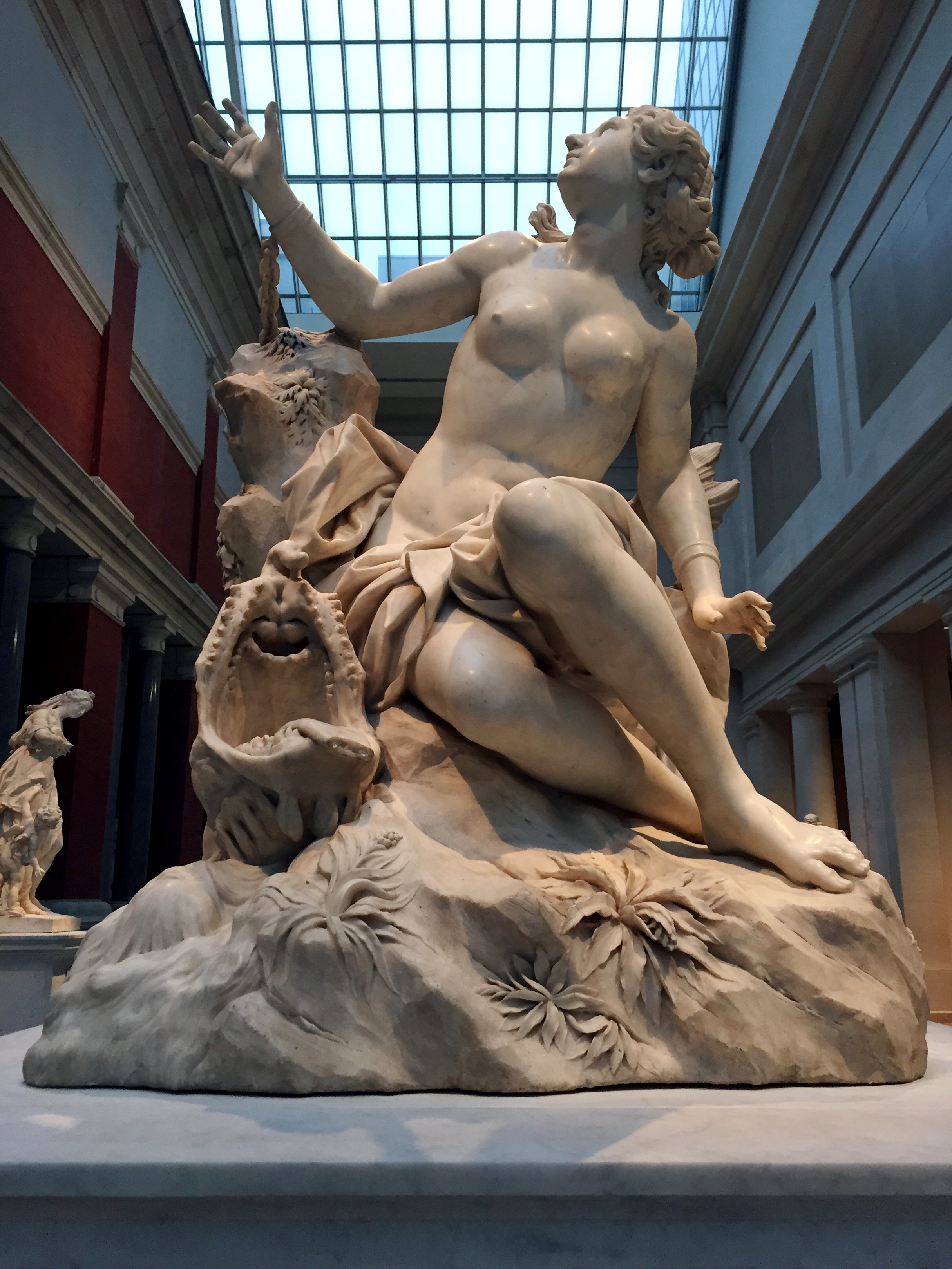 Andromeda and the Sea Monster .  Domenico Guidi . (1625-1701) Italian (Rome), 1694. Marble.