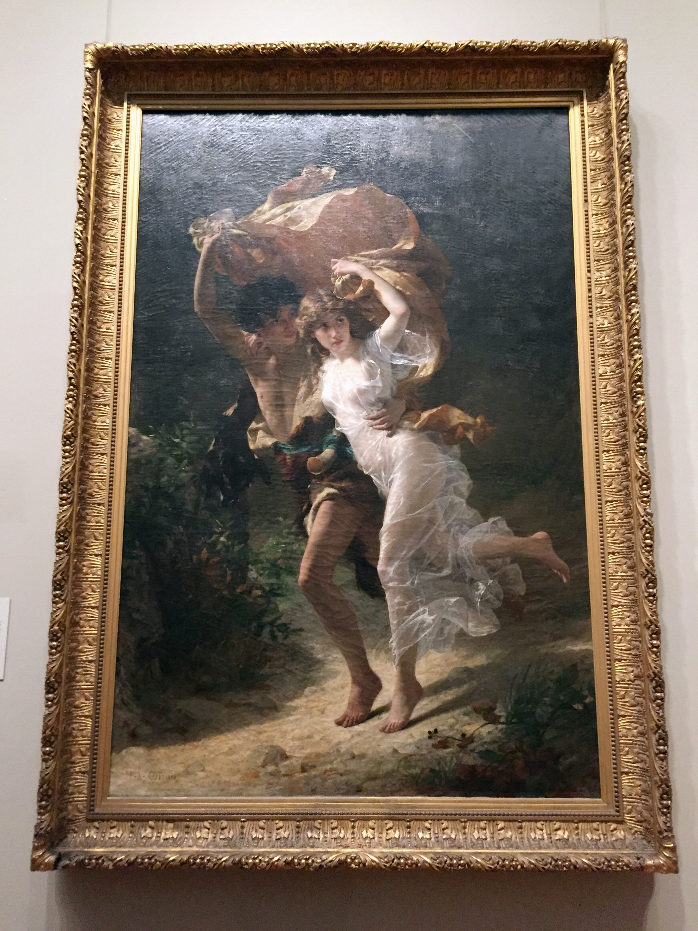 The Storm .  Pierre-Auguste Cot . (French, Bédarieux 1837–1883 Paris) 1880. Oil on canvas.