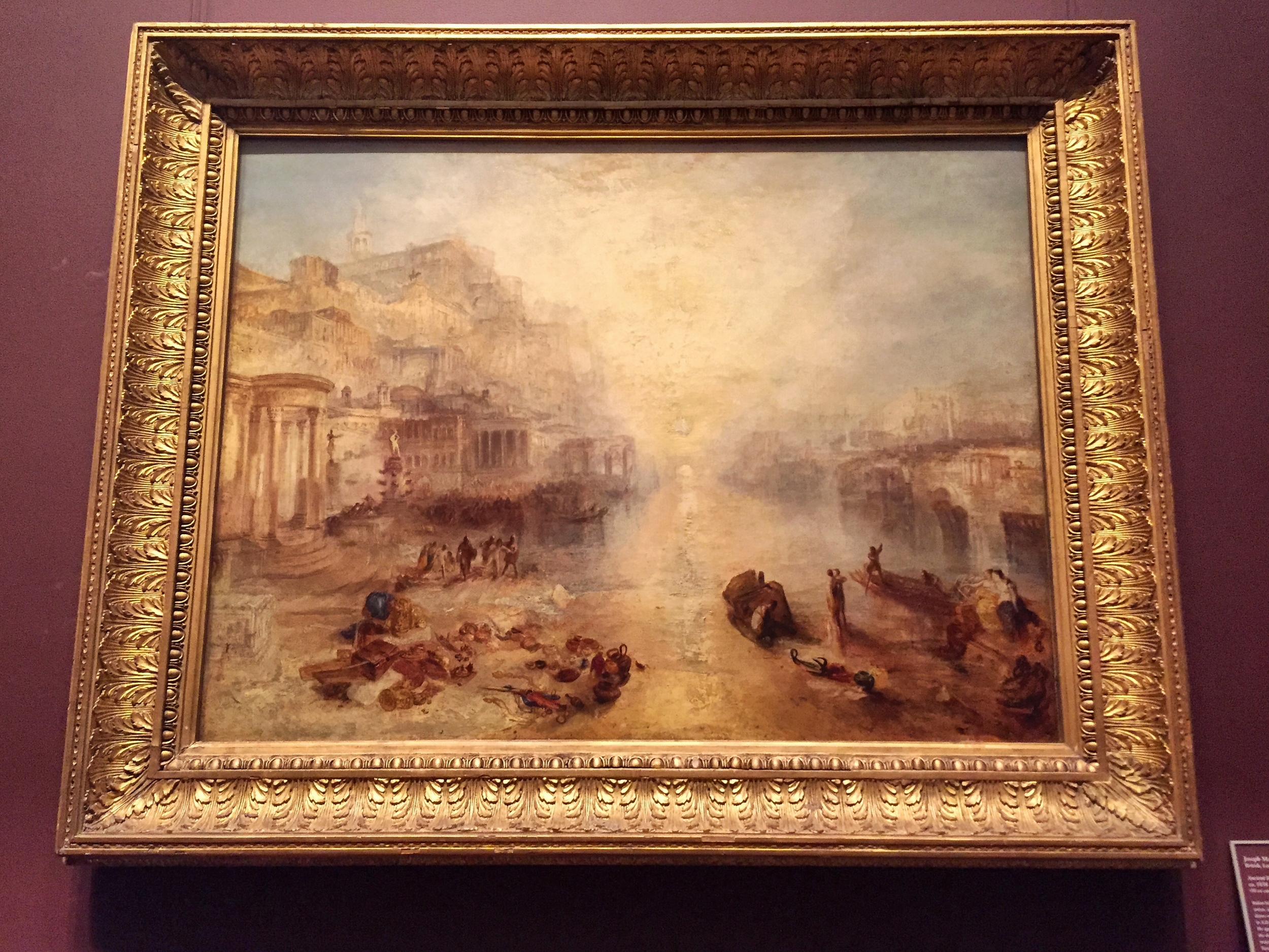 Ancient Italy Ovid Banished From Rome .  Joseph Mallord William Turner . (British, London 1775–1851 London) 1838. Oil on canvas.