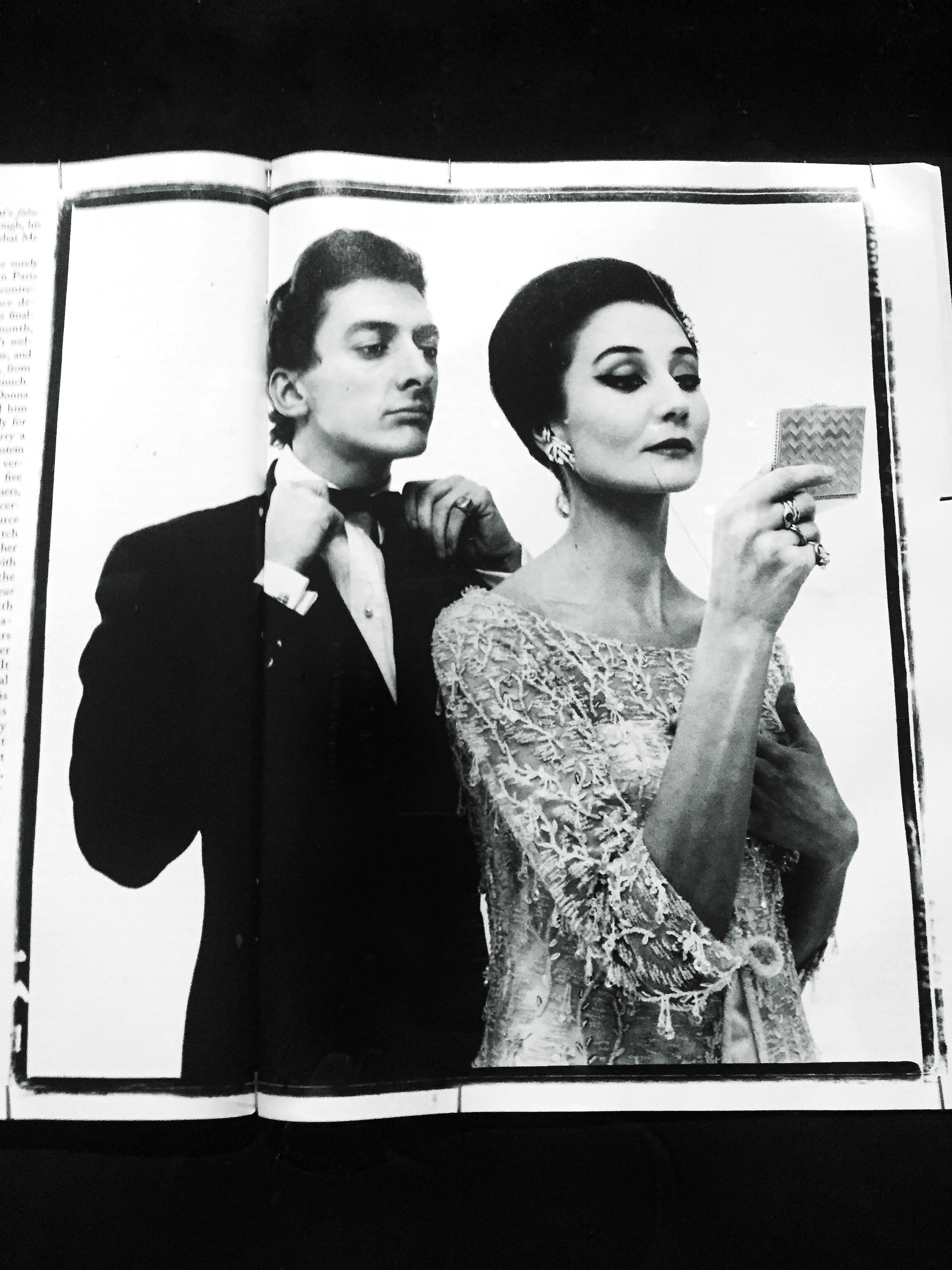"""Narcissism"" photograph of Jacqueline de Ribes by Richard Avedon for The New Yorker magazine."