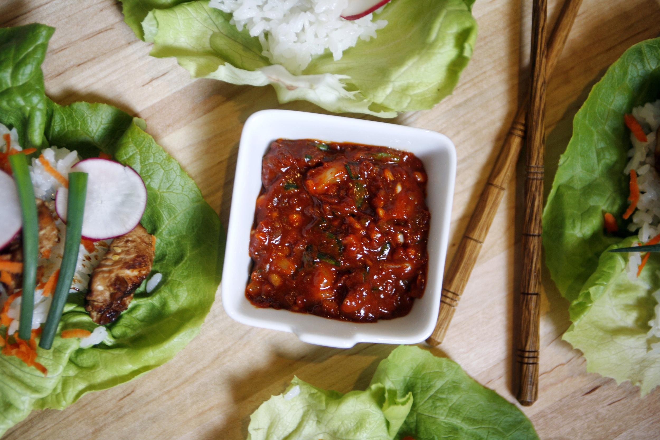 Ssamjang sauce (쌈장).