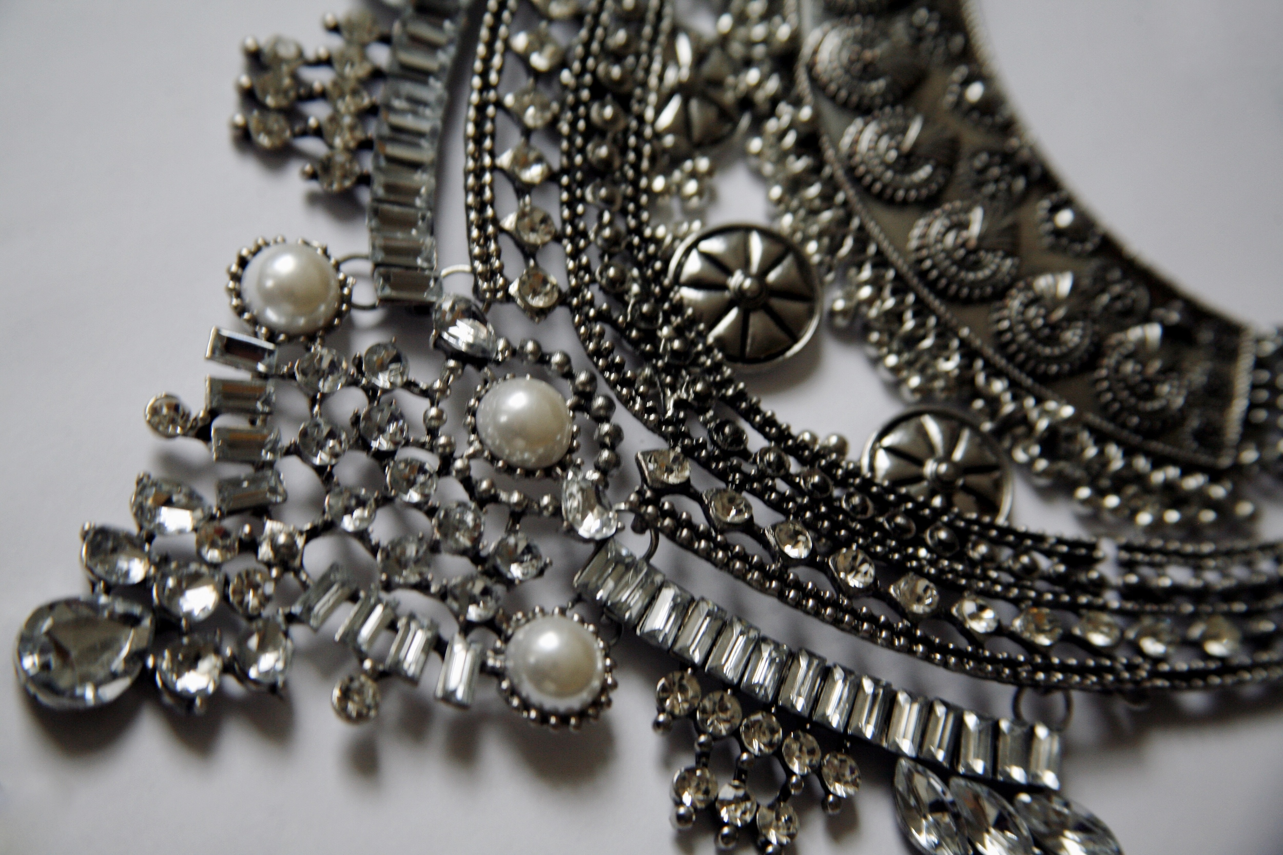 Details of the  Amazon  Statement Necklace from  Mirina Collections .