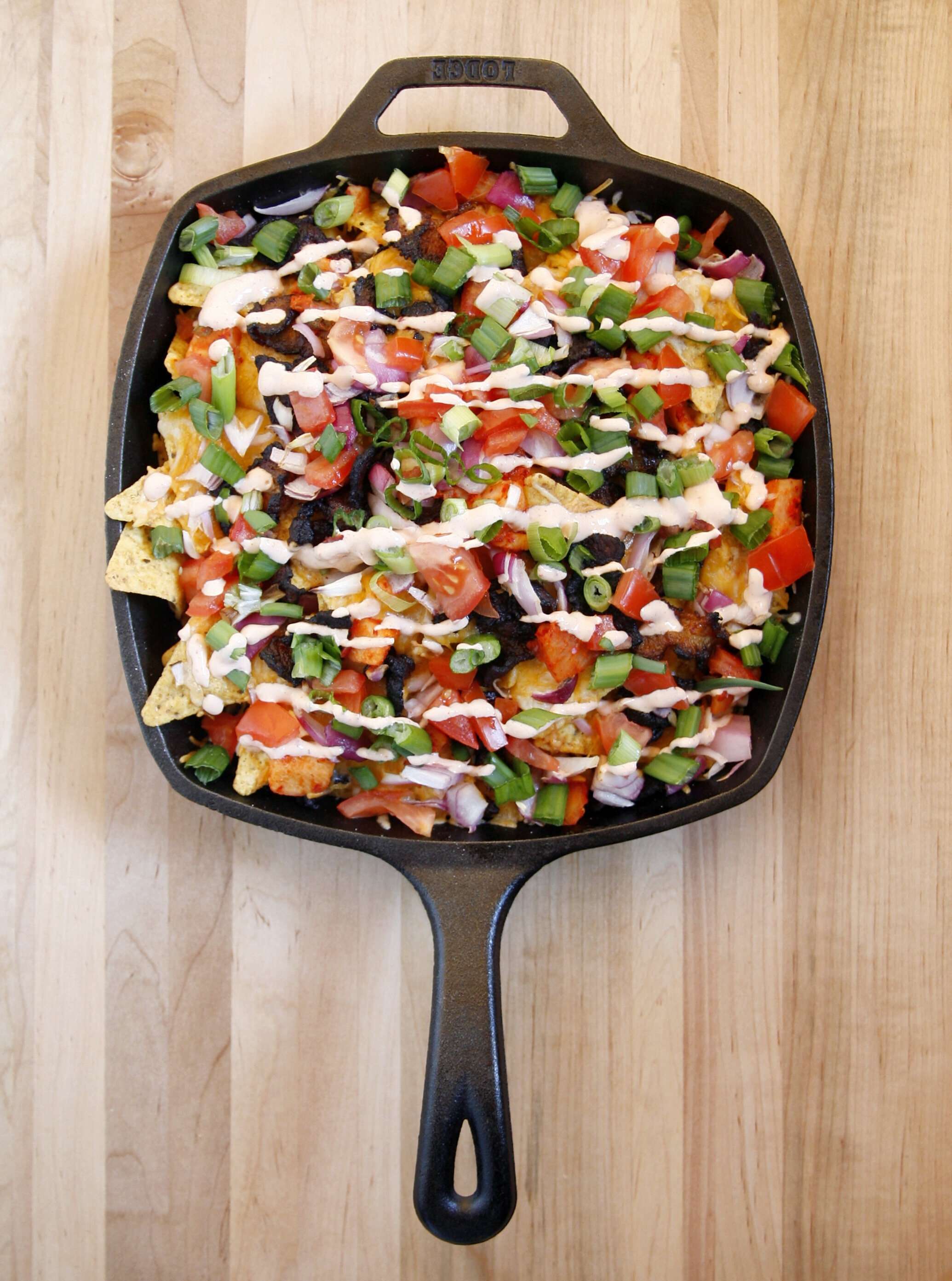 Korean-Style Pork Belly Nachos