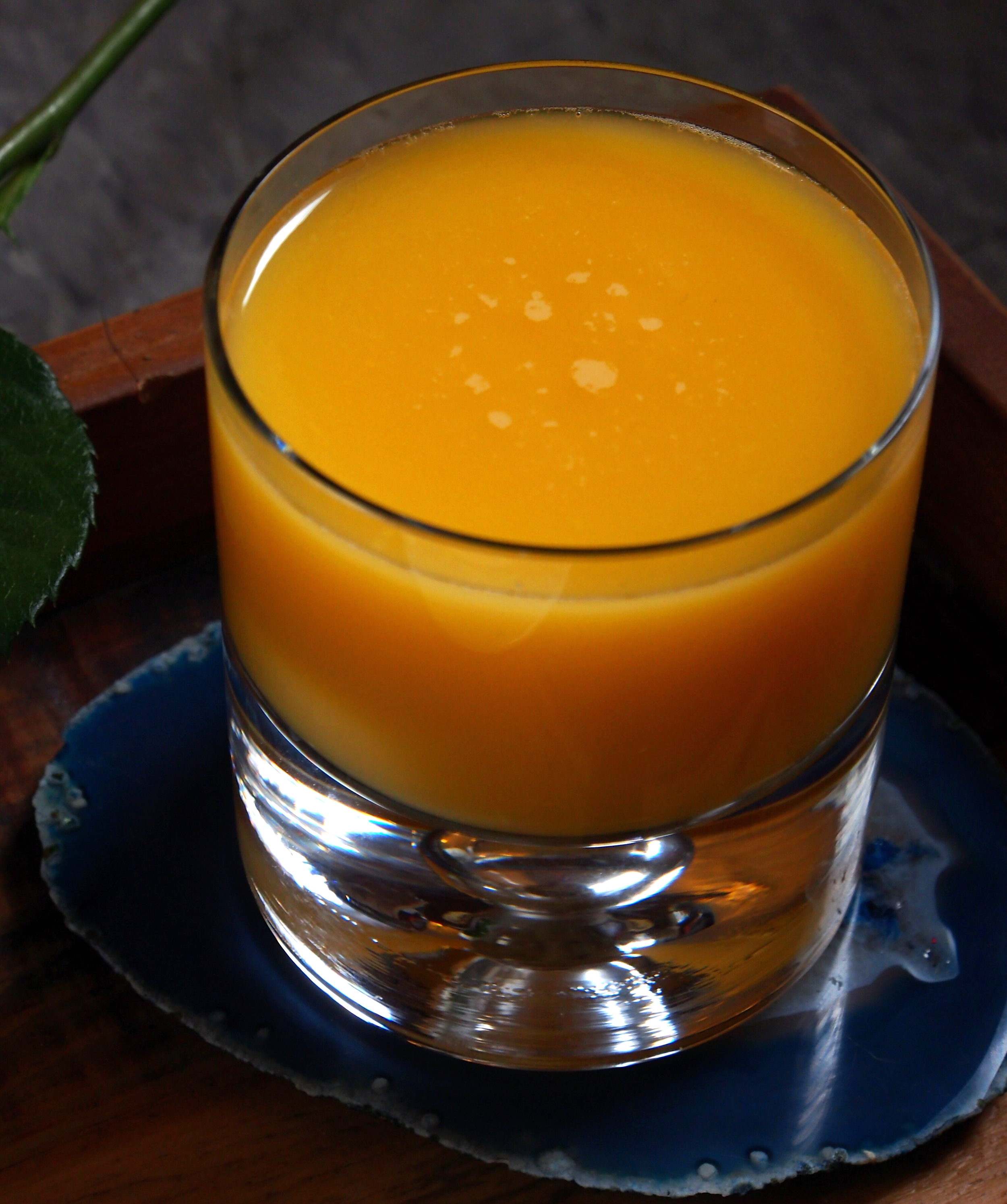 Nothing like a glass of OJ to help wash it down! So refreshing, mmmm! :)