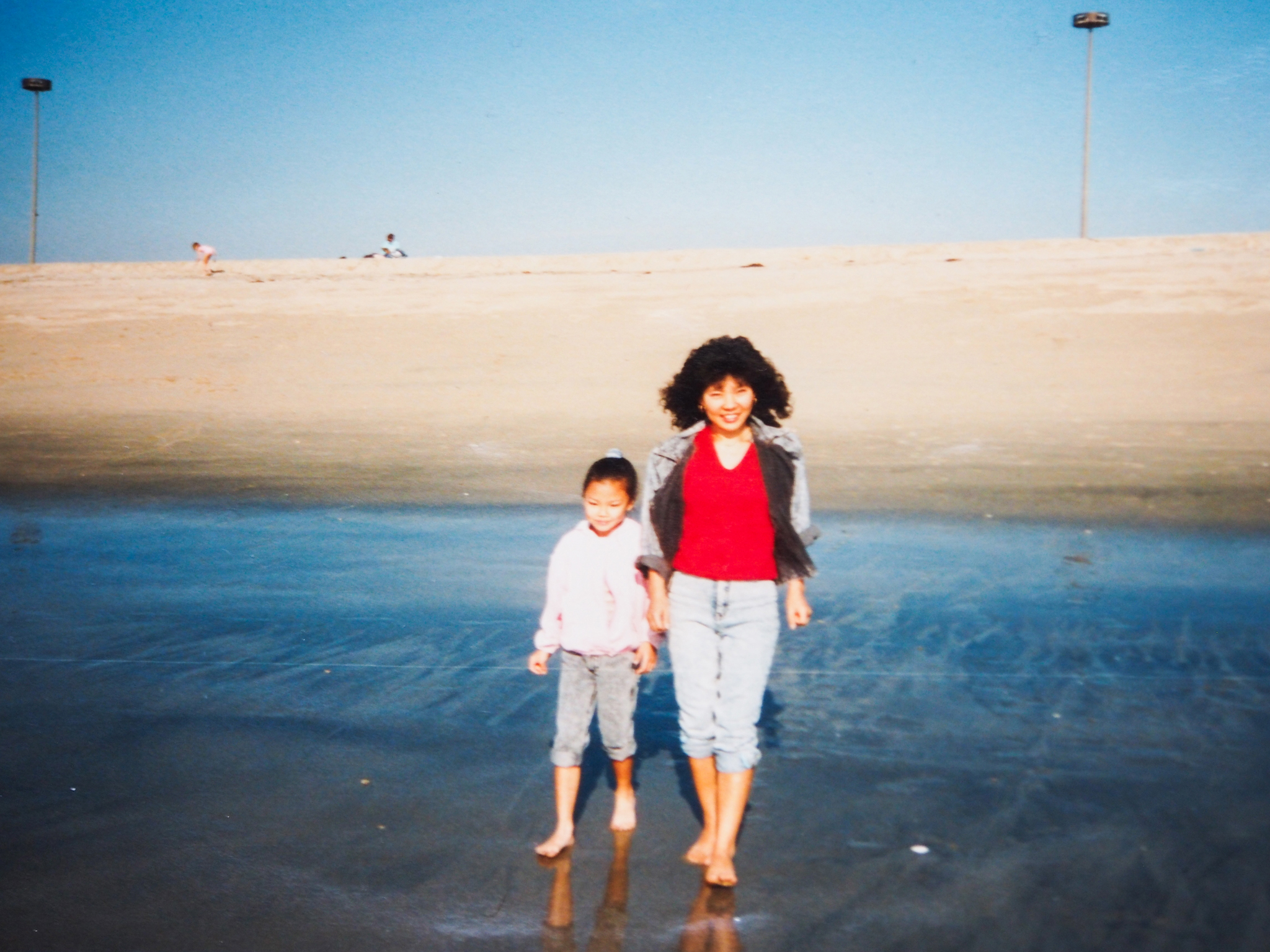 Together at Newport Beach, 1992. I miss you. I love you, Ma.
