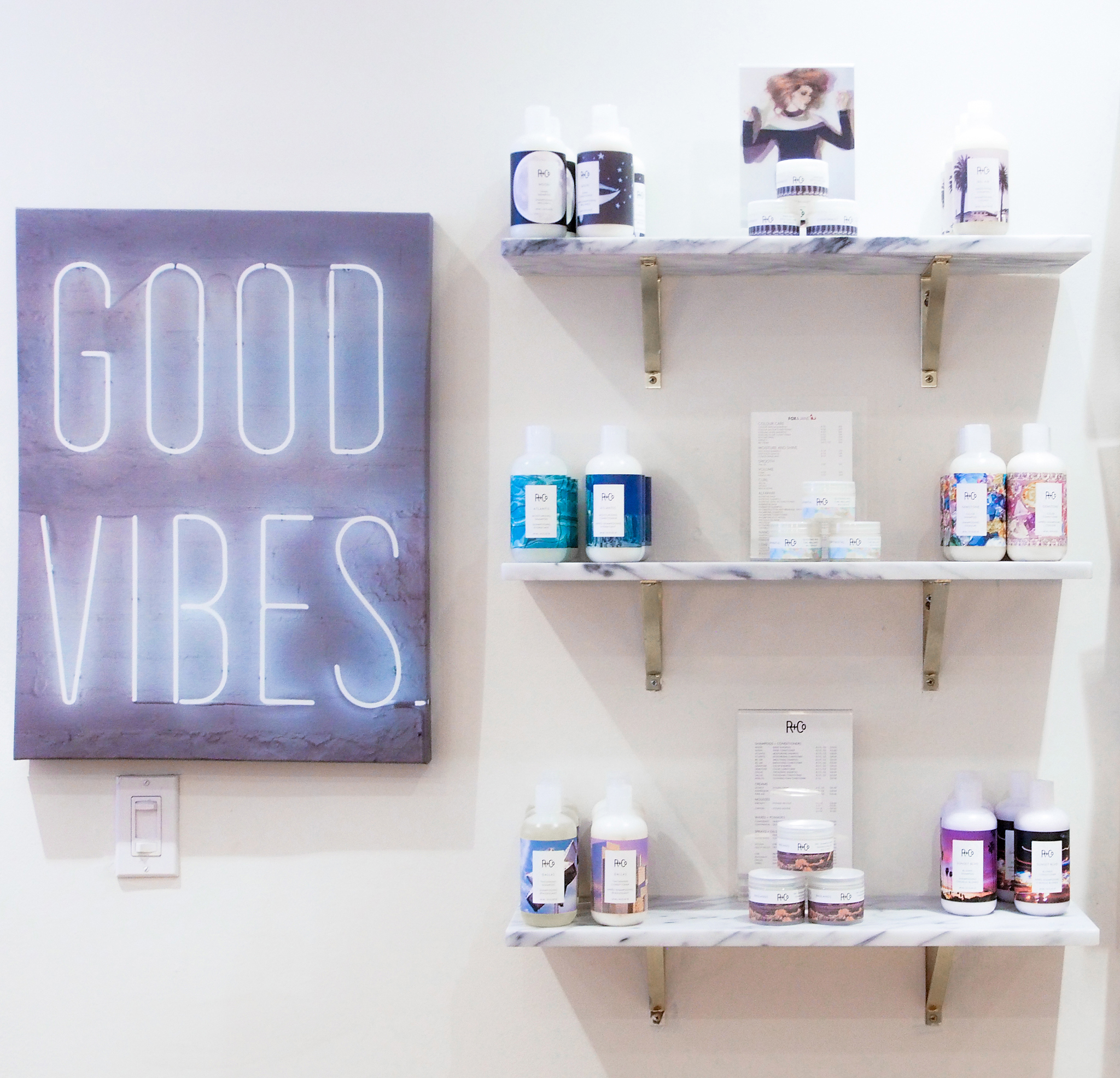 Good Vibes | Products Galore. Featuring some  R+Co  products from their line.