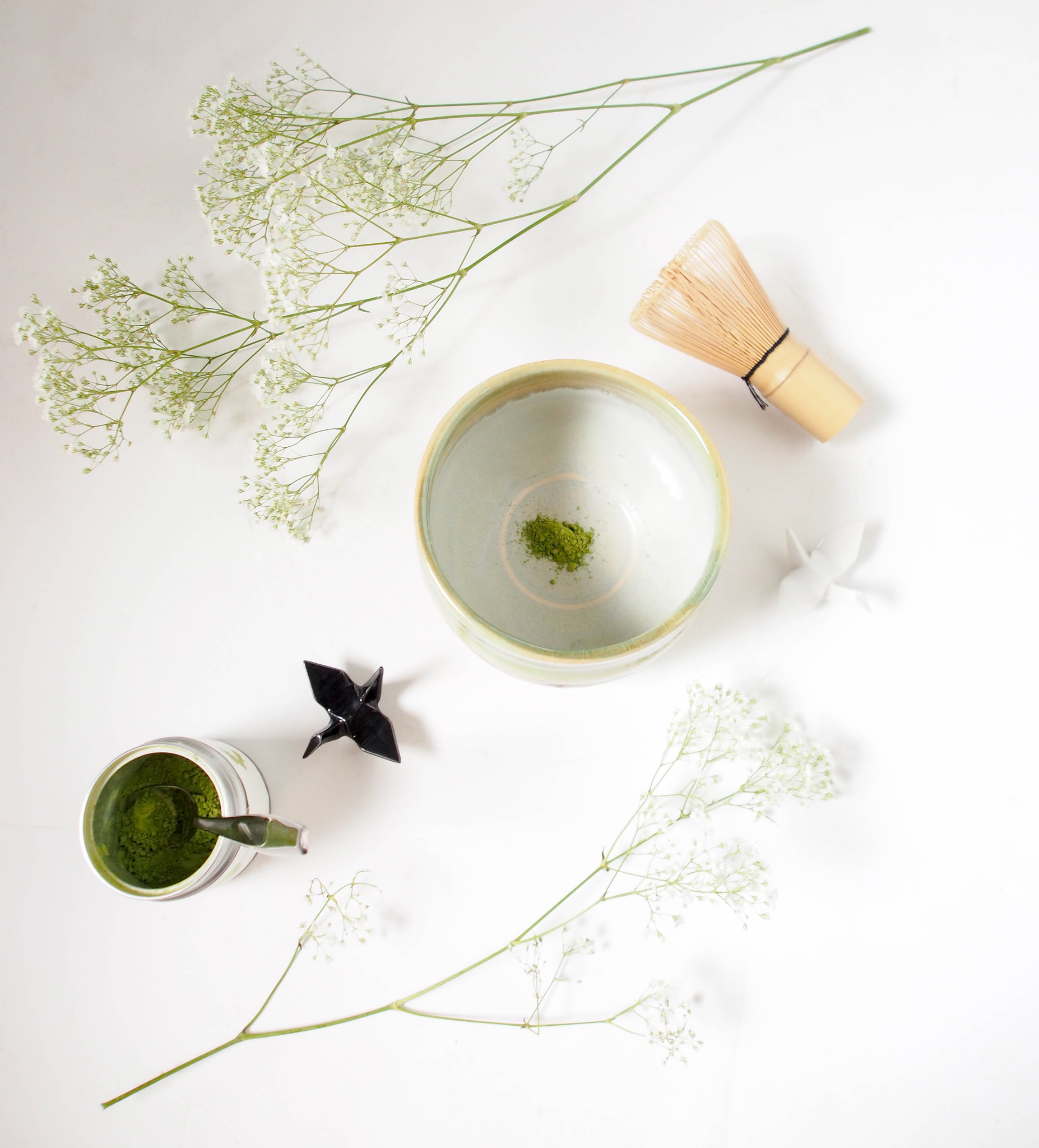 Matcha Tea from  Matchanna , ceremonial tea bowl and whisk from  Teavana . All photos © Suzanne Spiegoski