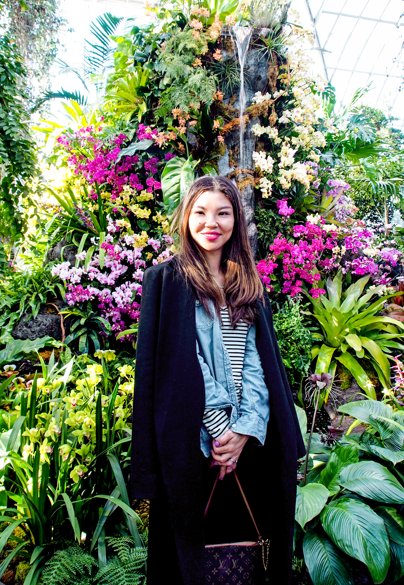 Obligatory  portrait  among the thousands of orchids!
