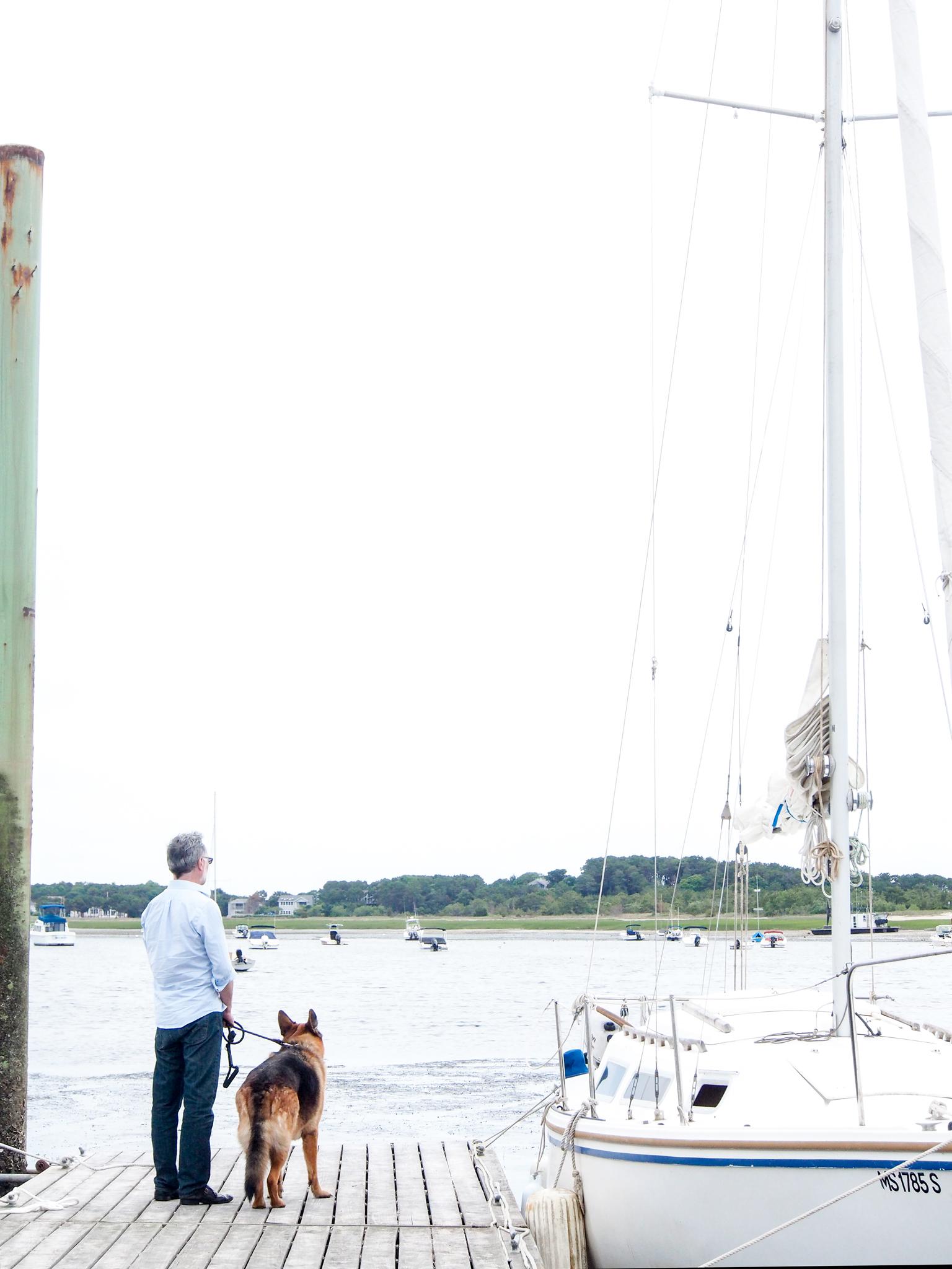Wellfleet Harbor with my boys.